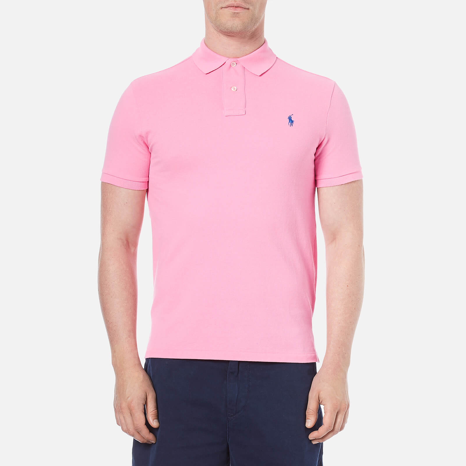 41502458 Polo Ralph Lauren Men's Custom Fit Polo Shirt - Heritage Pink - Free UK  Delivery over £50