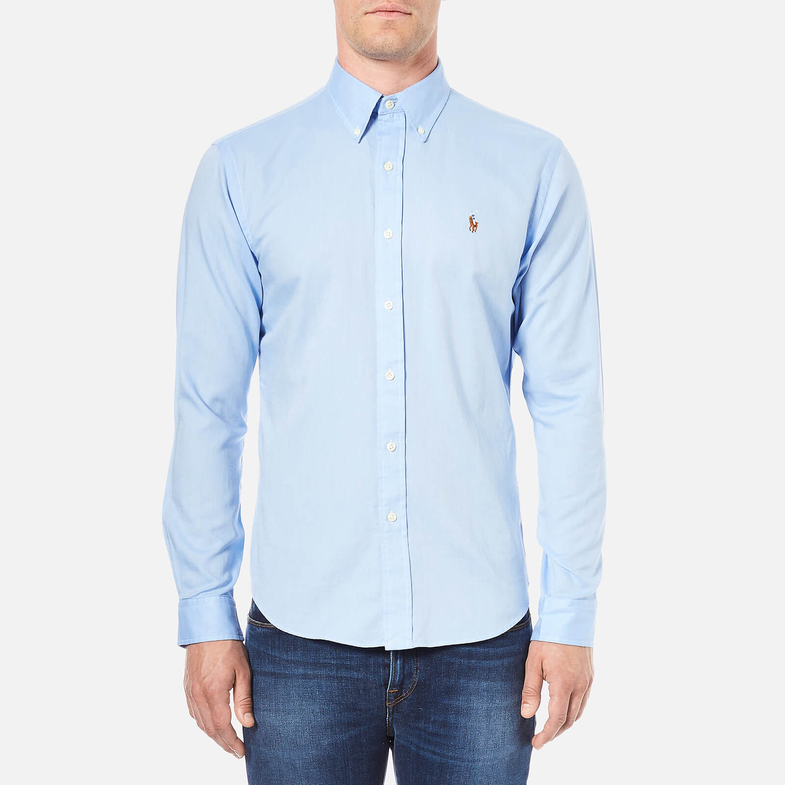 6849eb332b86 Polo Ralph Lauren Men s Long Sleeve Oxford Shirt - Light Blue - Free UK  Delivery over £50