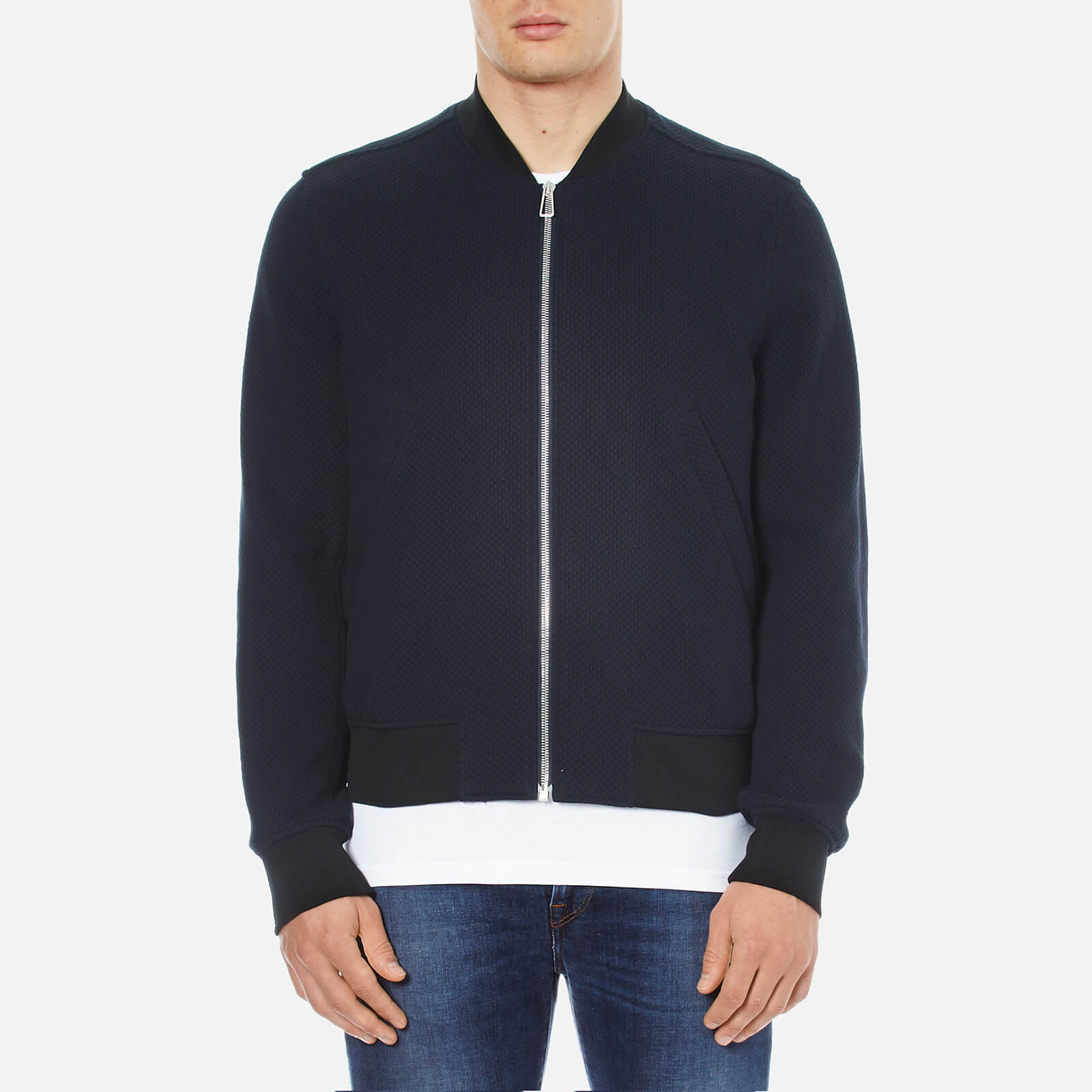 68a87261f75 PS by Paul Smith Men s Textured Bomber Jacket - Navy - Free UK Delivery  over £50
