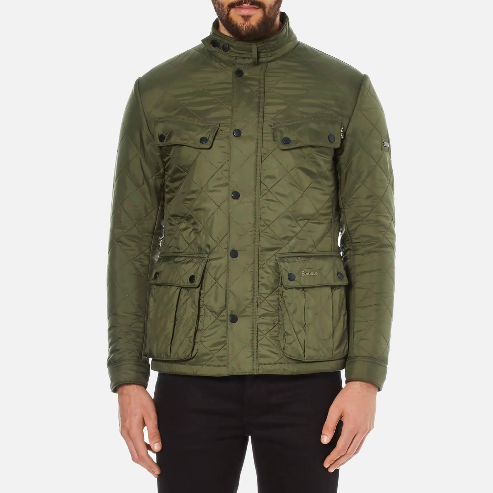 0b0526e93 Barbour International Men's Ariel Polarquilt Jacket - Olive