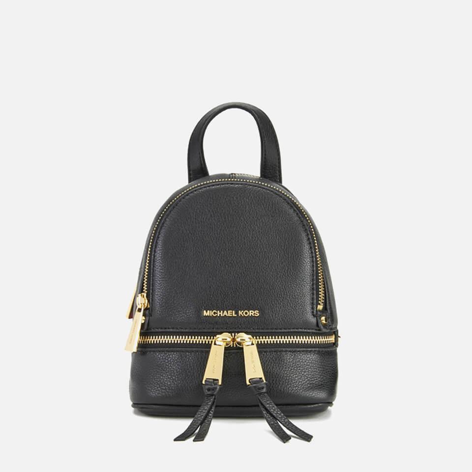ed79250f8ec43 MICHAEL MICHAEL KORS Rhea Zip Small Crossbody Backpack - Black - Free UK  Delivery over £50