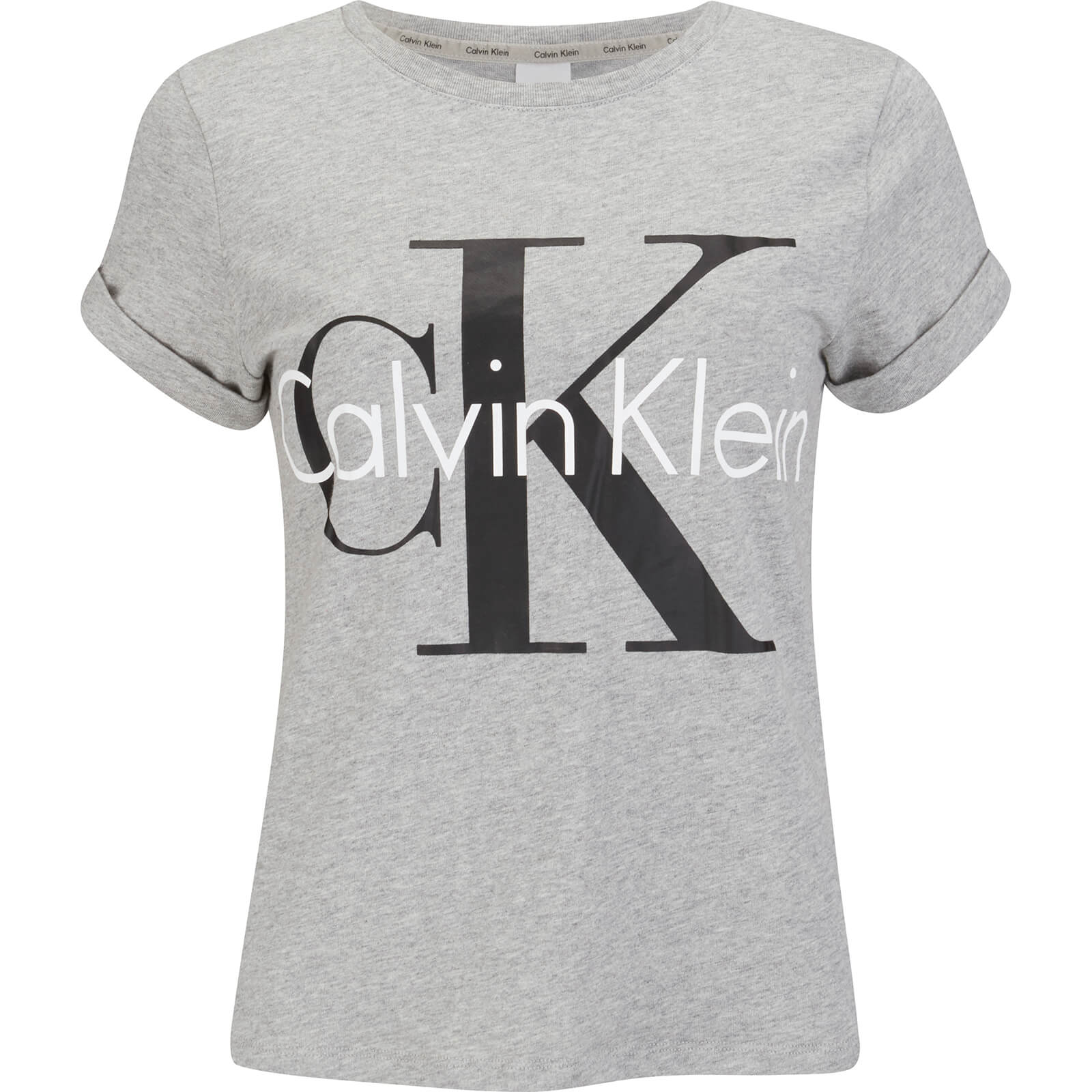 2798f5d43607 Calvin Klein Women s Logo Short Sleeve Crew Neck T-Shirt - Grey Heather -  Free UK Delivery over £50