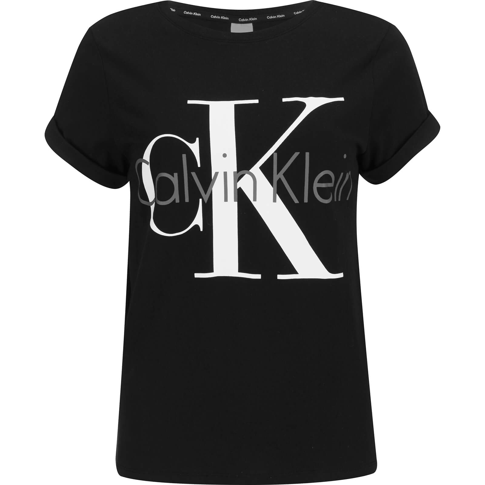 1ce1cc11a9 Calvin Klein Women s Logo Short Sleeve Crew Neck T-Shirt - Black - Free UK  Delivery over £50