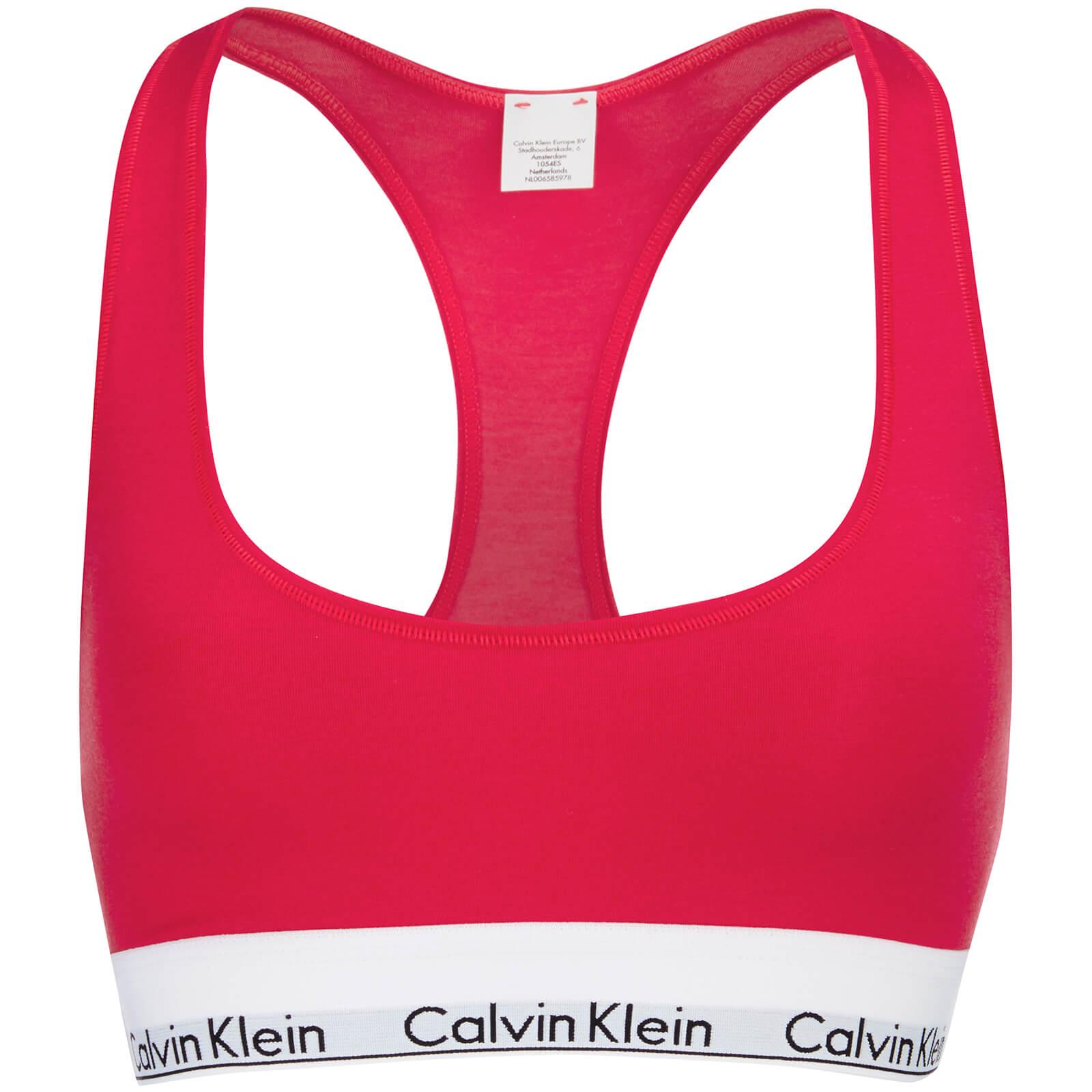 755e7166d981fa Calvin Klein Women s Modern Cotton Bralette - Evocative Red - Free UK  Delivery over £50