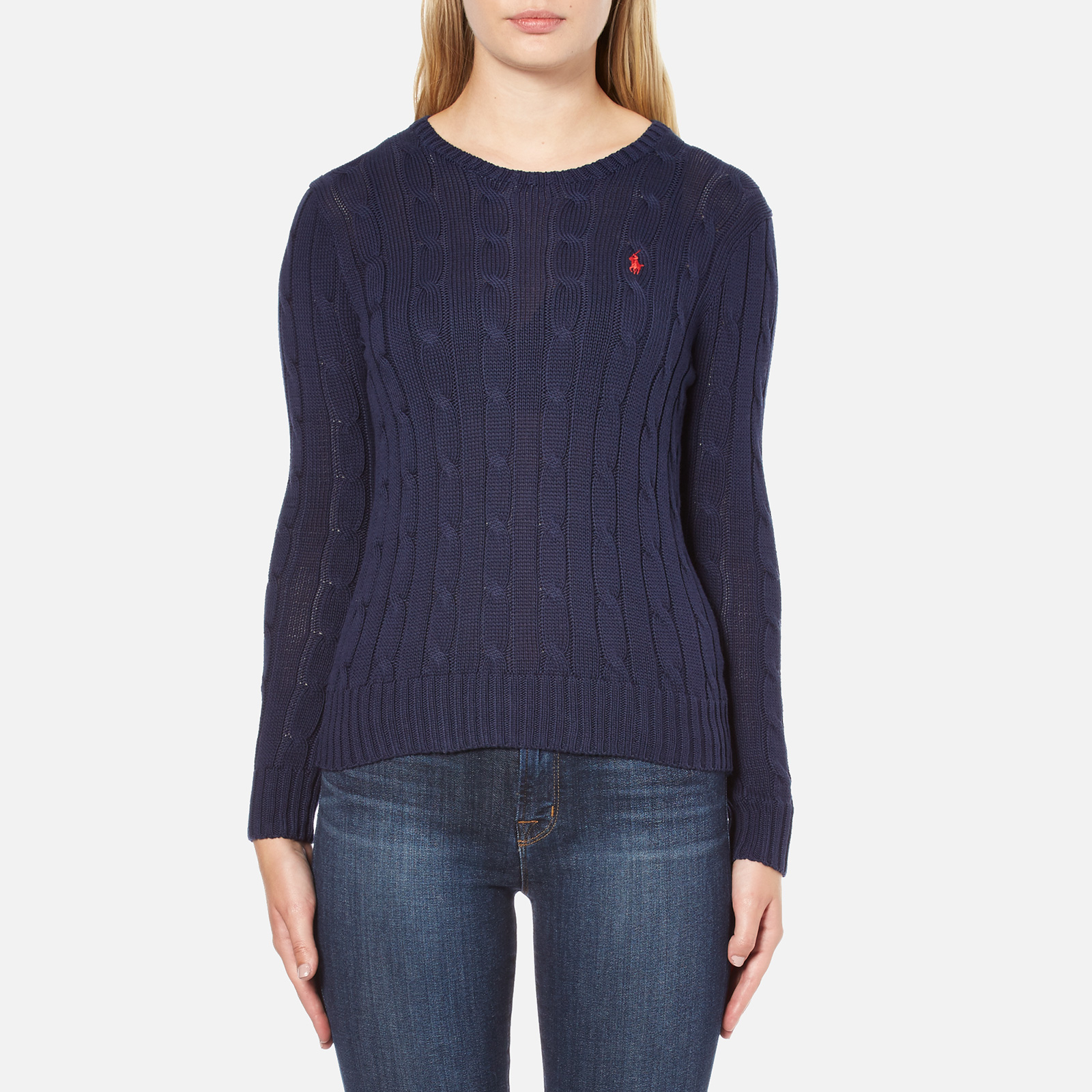 1bf5a4764a Polo Ralph Lauren Women s Julianna Crew Neck Jumper - Hunter Navy - Free UK  Delivery over £50
