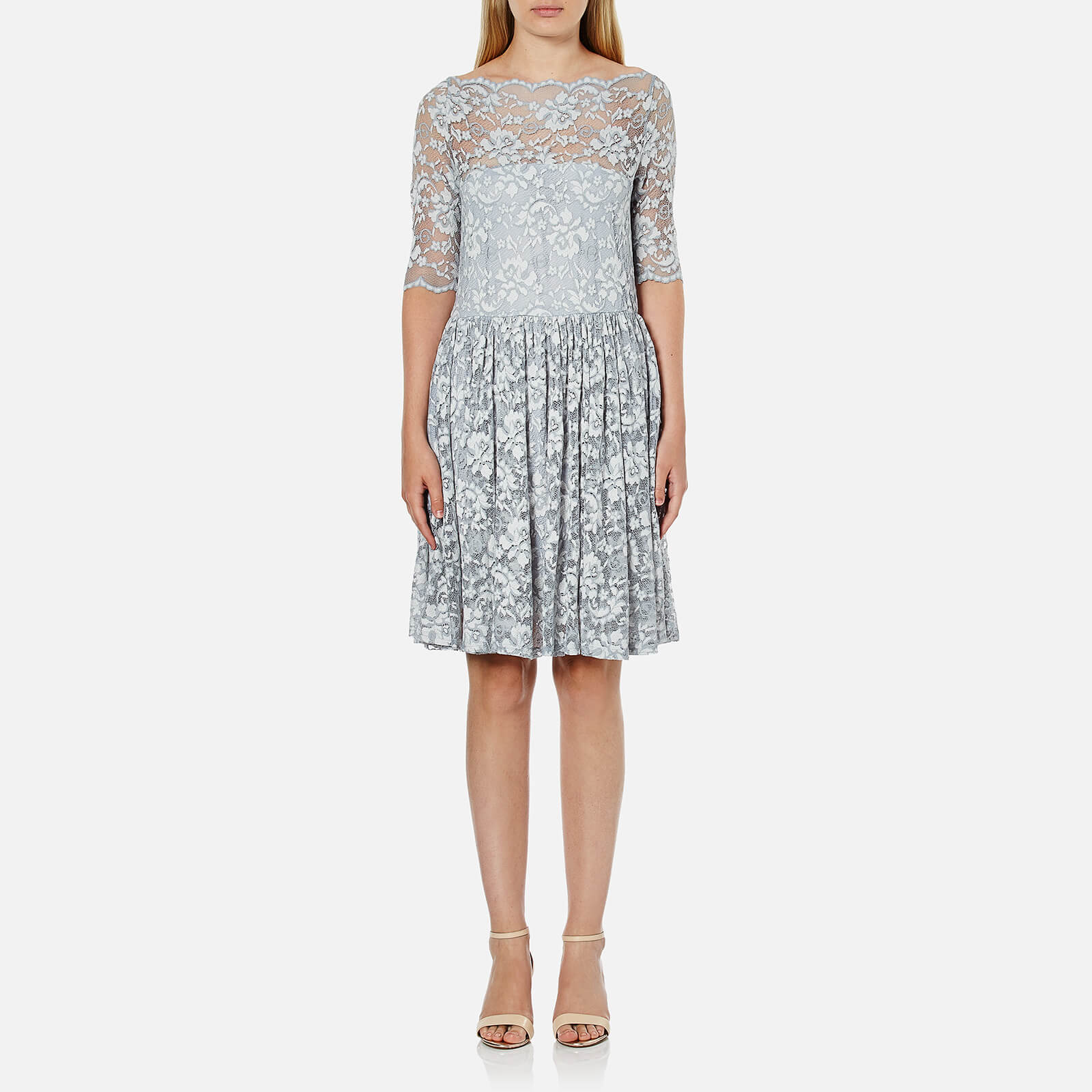 1088ff0c Ganni Women's Ayame Lace Dress - Pearl Blue - Free UK Delivery over £50