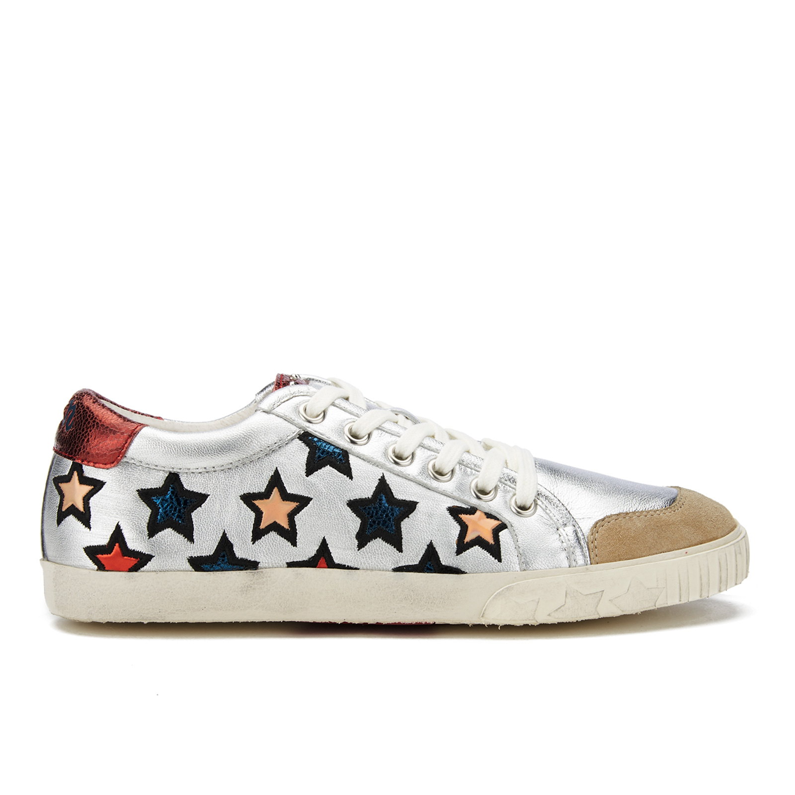 5d68463bf19 Ash Women s Majestic Star Print Low Top Trainers - Seta Silver Red ...