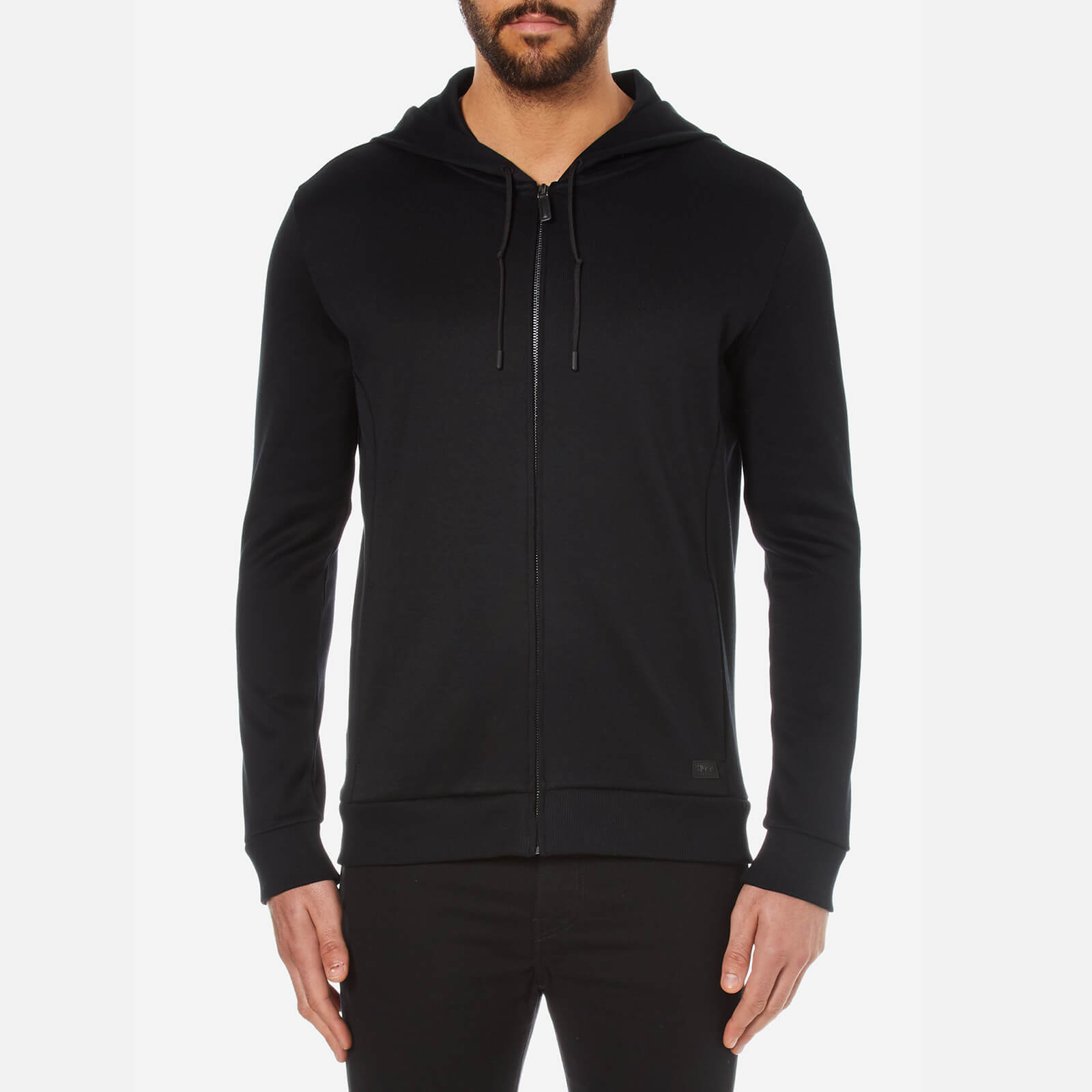 ef5eefb53 HUGO Men's Doscato French Rib Hoody - Black - Free UK Delivery over £50