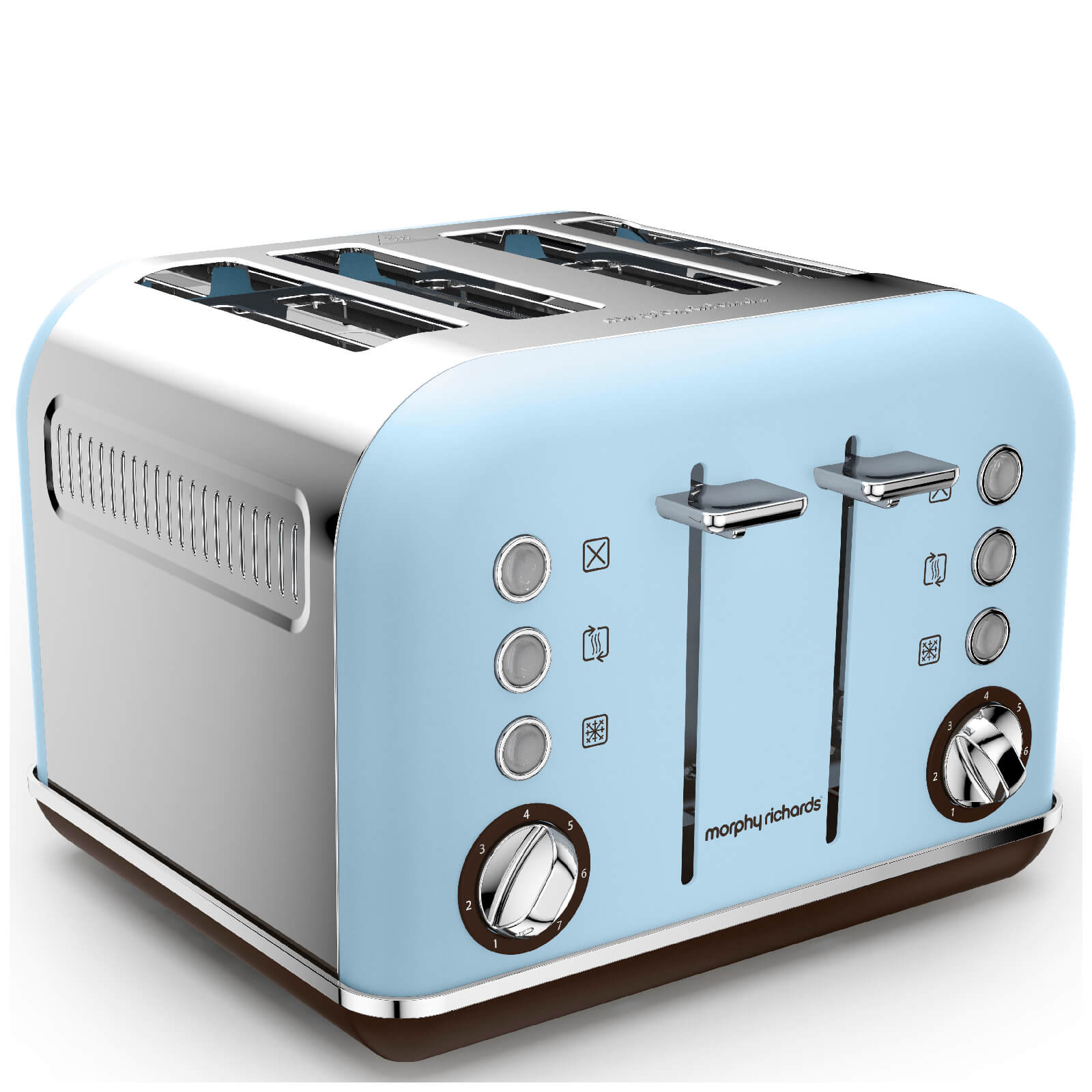Morphy Richards 242100 Accents 4 Slice Premium Toaster - Azure