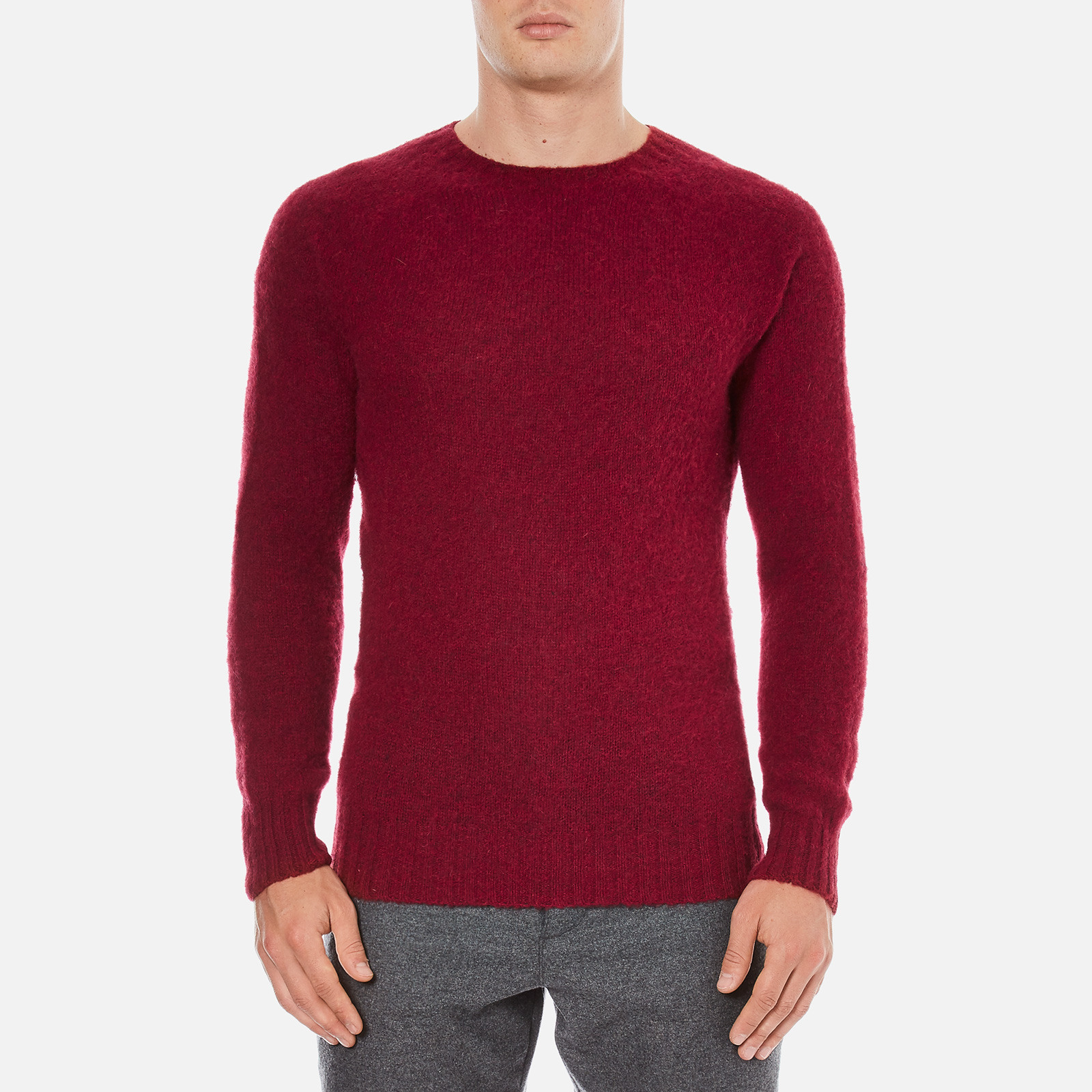7c38dd7da6e1d0 YMC Men s Suedehead Brushed Jumper - Red - Free UK Delivery over £50