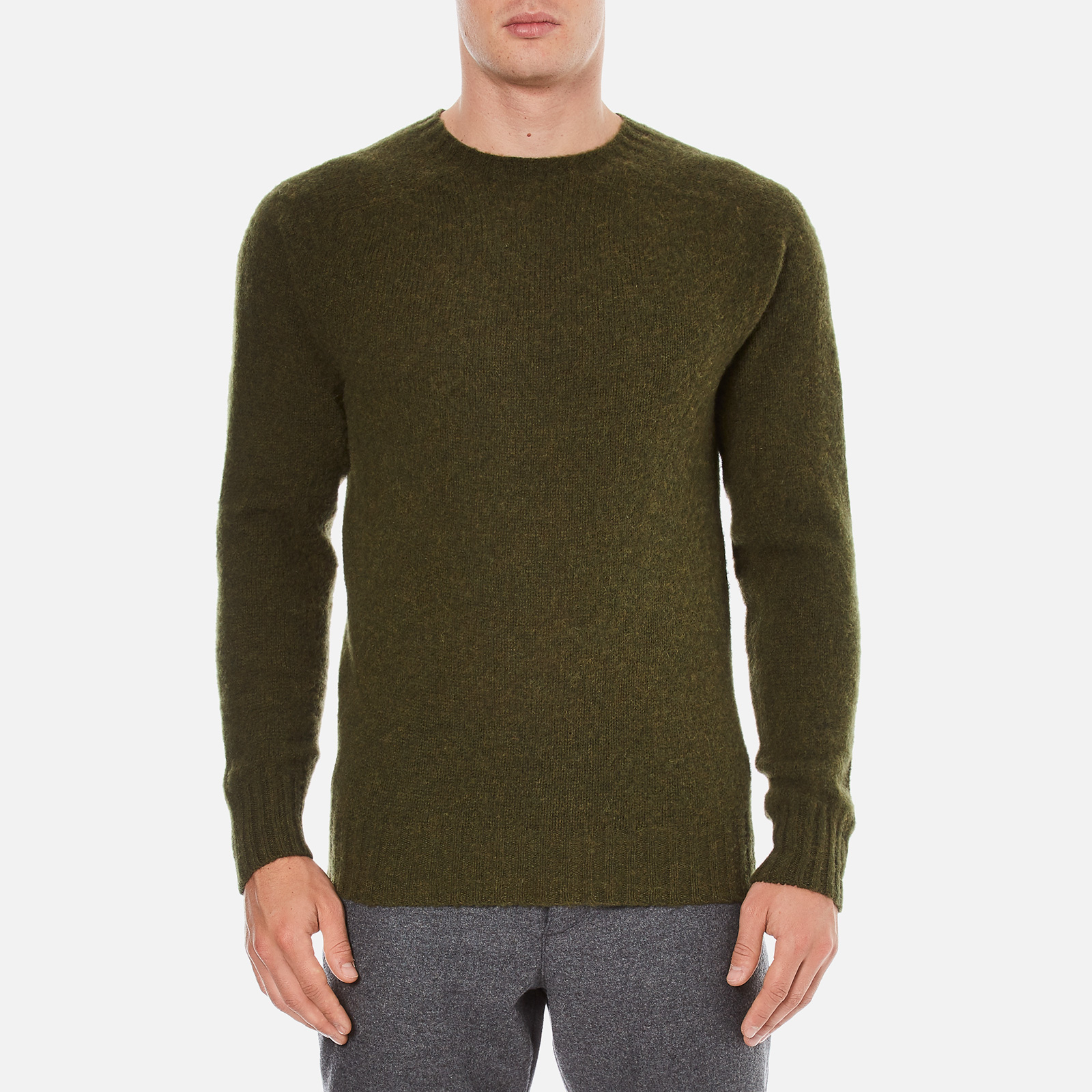c03f04e521305a YMC Men s Suedehead Brushed Jumper - Loden - Free UK Delivery over £50