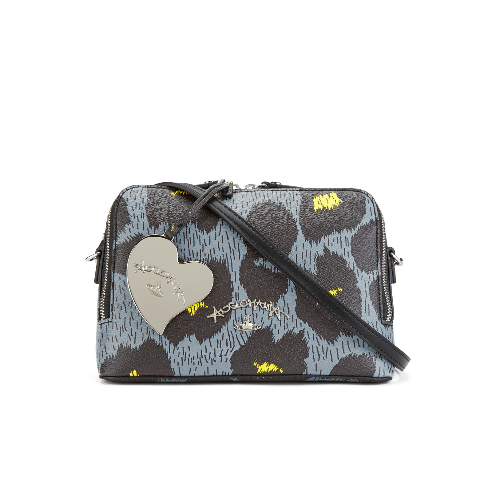 56a2d84a4c Vivienne Westwood Leopardmania Women's Small Cross Body - Grey - Free UK  Delivery over £50
