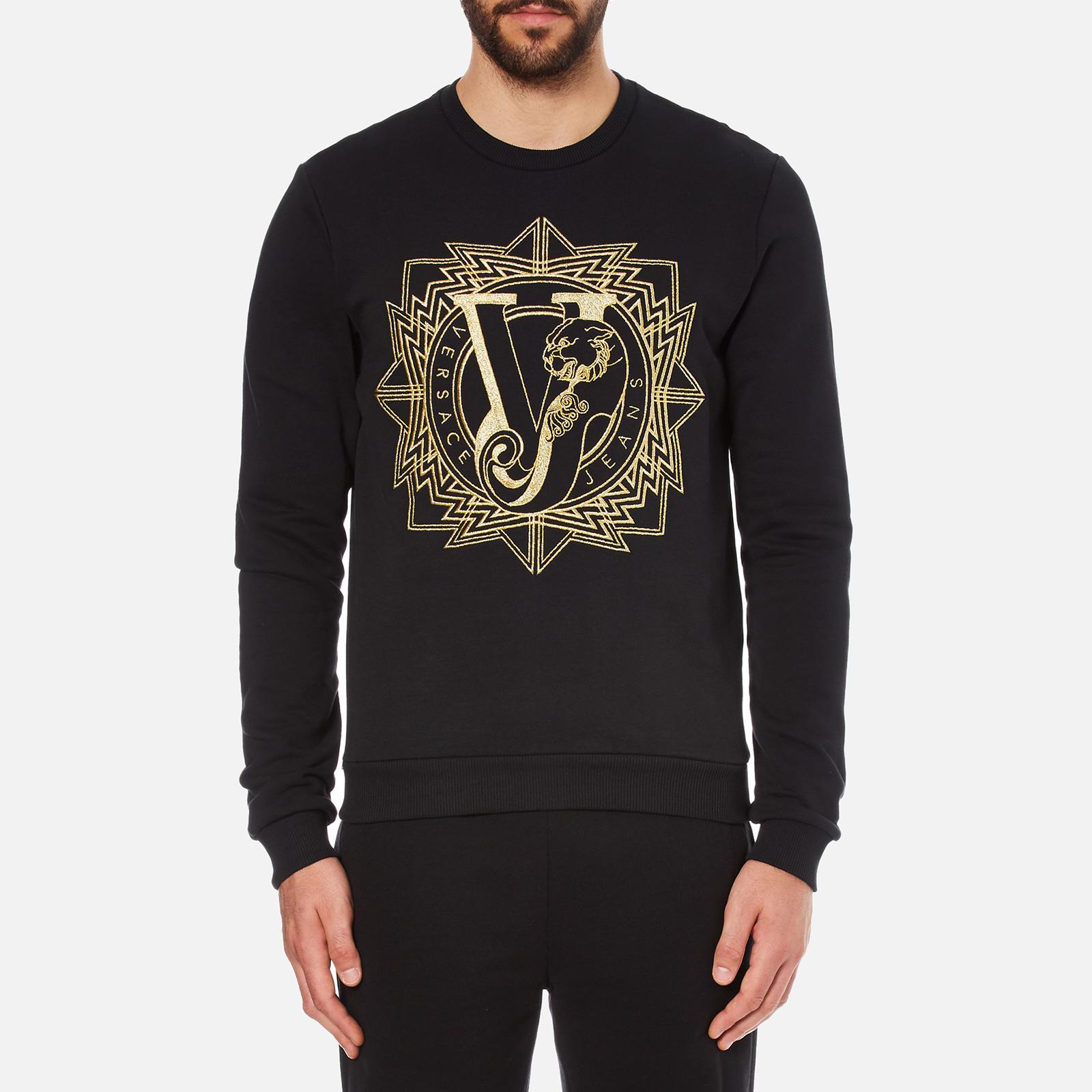 761f21bbe5 Versace Jeans Floral Sweatshirt Black   Lixnet AG