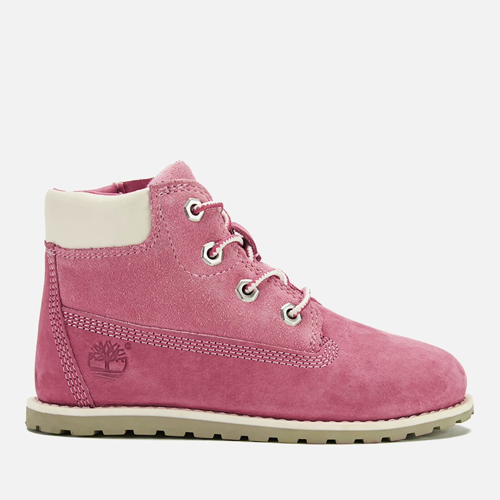 65c53e387ea49 Timberland Toddlers' Pokey Pine Leather 6 Inch Zip Boots - Pink Junior  Clothing   TheHut.com