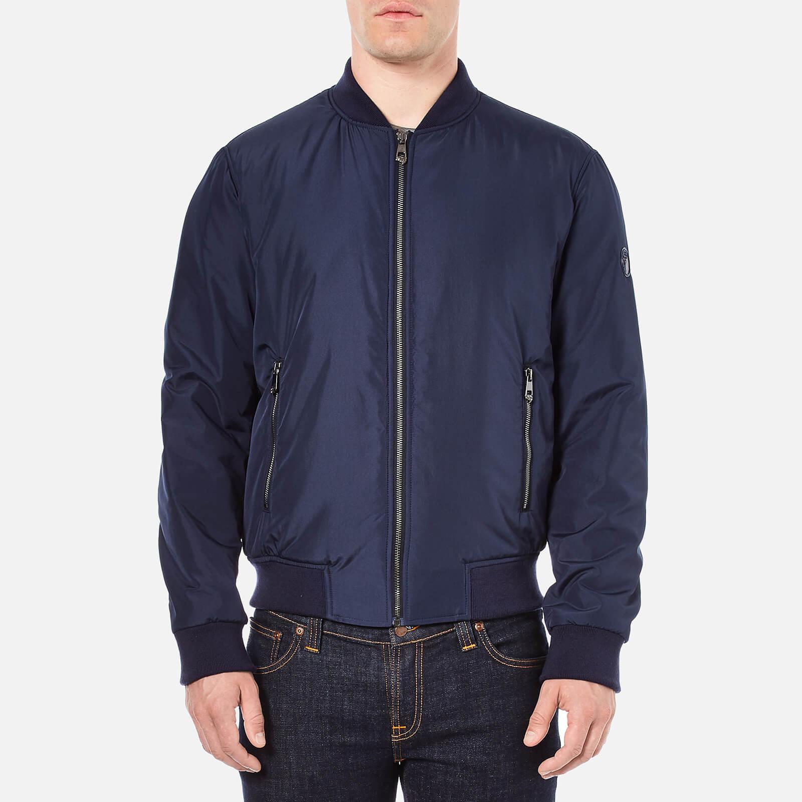 9358e4bf Versace Collection Men's Bomber Jacket - Blue