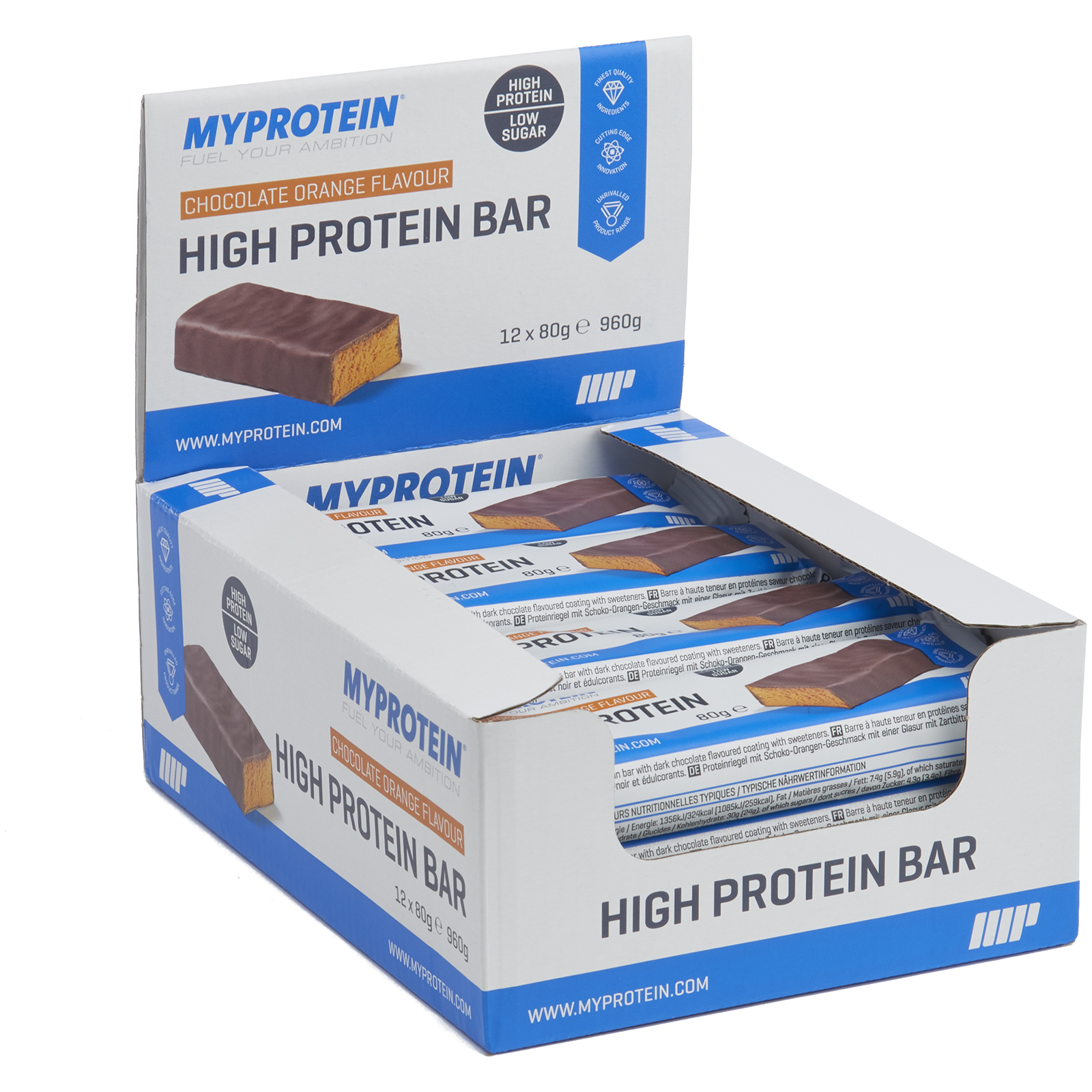 High Protein Bar, Chocolate Orange, 12 x 80g