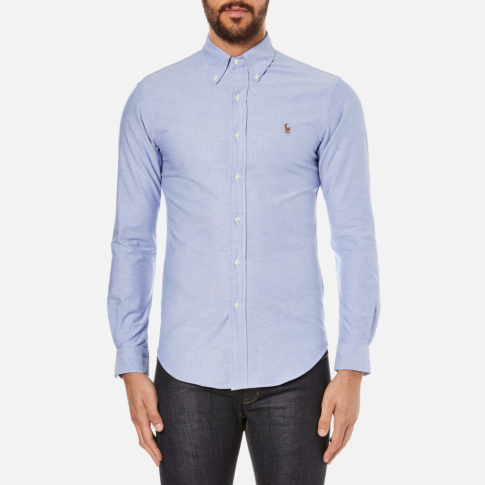 10b46d1fa79c Polo Ralph Lauren Men s Slim Fit Button Down Stretch Oxford Shirt - Blue -  Free UK Delivery over £50