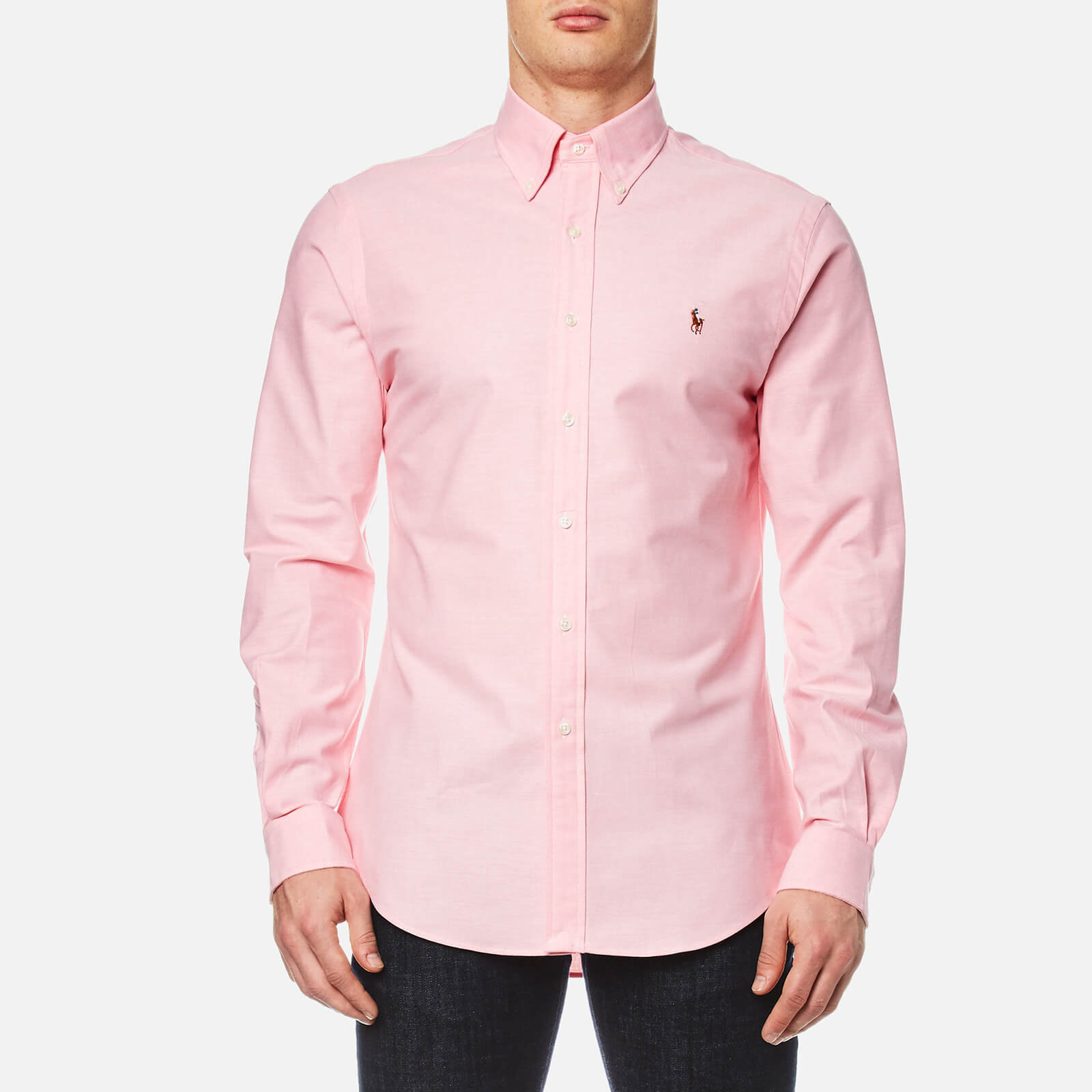 0d150b54 Polo Ralph Lauren Men's Slim Fit Button Down Stretch Oxford Shirt - Pink -  Free UK Delivery over £50