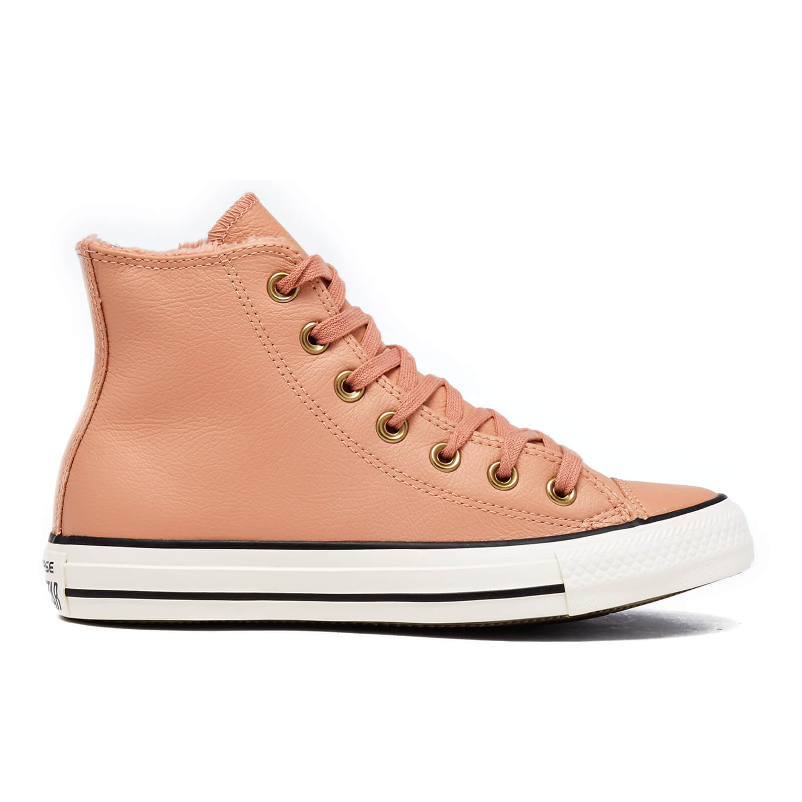 e95f75028a36 ... Converse Women s Chuck Taylor All Star Leather Fur Hi-Top Trainers -  Pink Blush