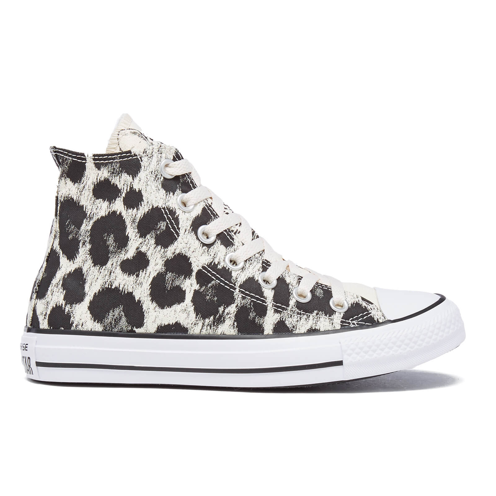 Converse Women s Chuck Taylor All Star Animal Print Hi-Top Trainers -  Parchment Black White - Free UK Delivery over £50 9f49f40de