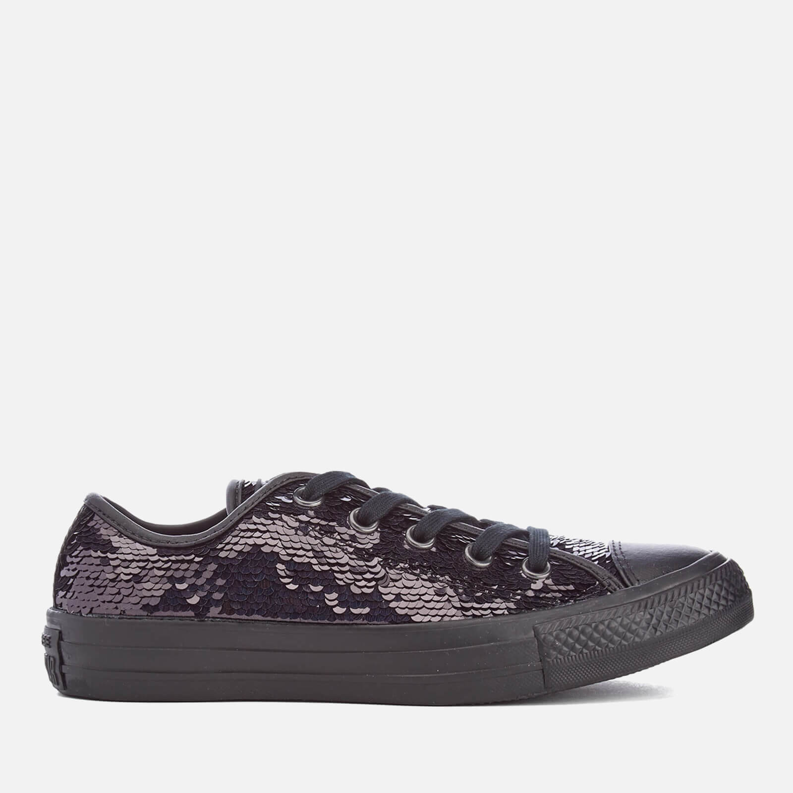 d6ea1d2860c8 Converse Women's Chuck Taylor All Star Holiday Party OX Trainers - Black  Sequin | FREE UK Delivery | Allsole