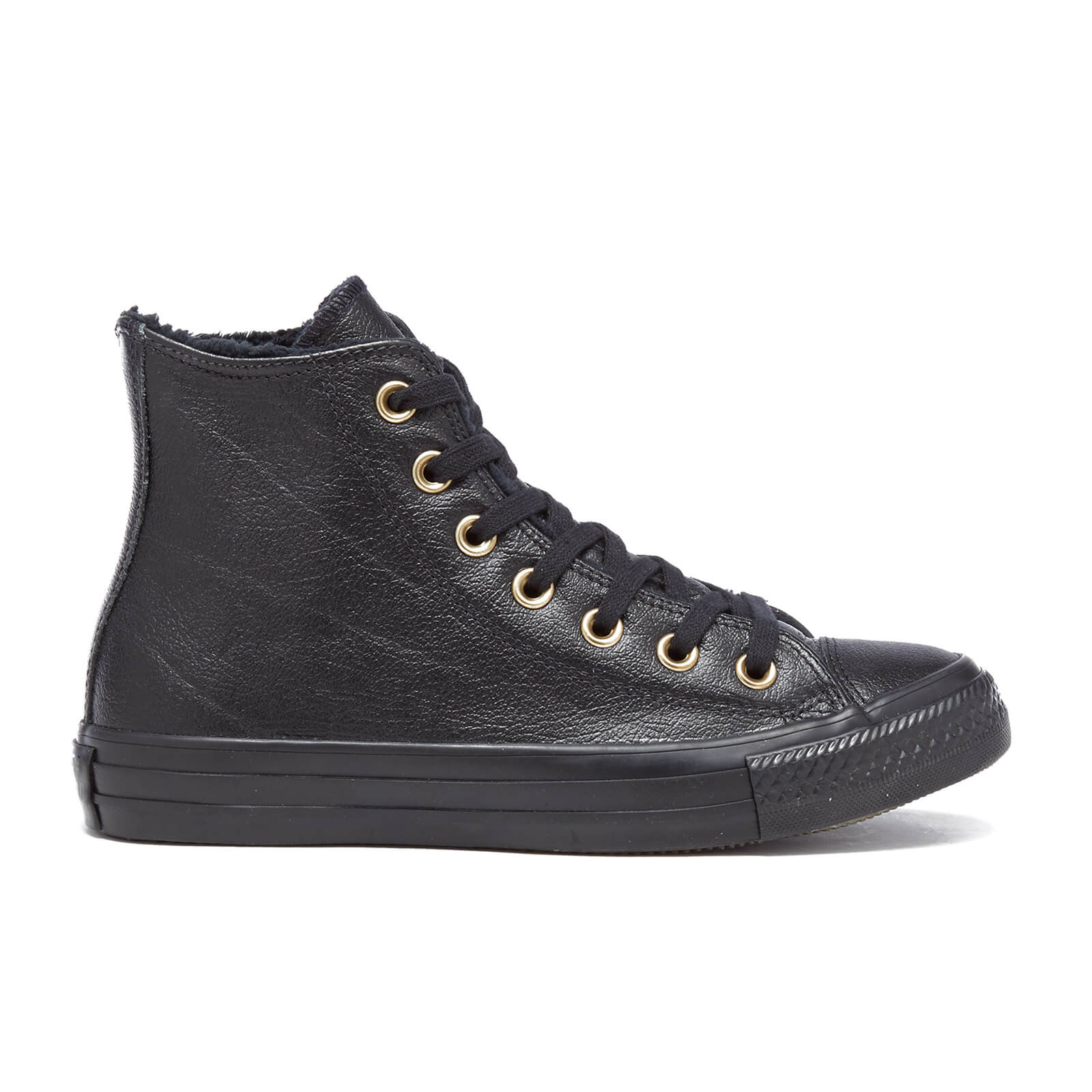 9bbffd8cab2813 Converse Women s Chuck Taylor All Star Leather Fur Hi-Top Trainers - Black  Black - Free UK Delivery over £50