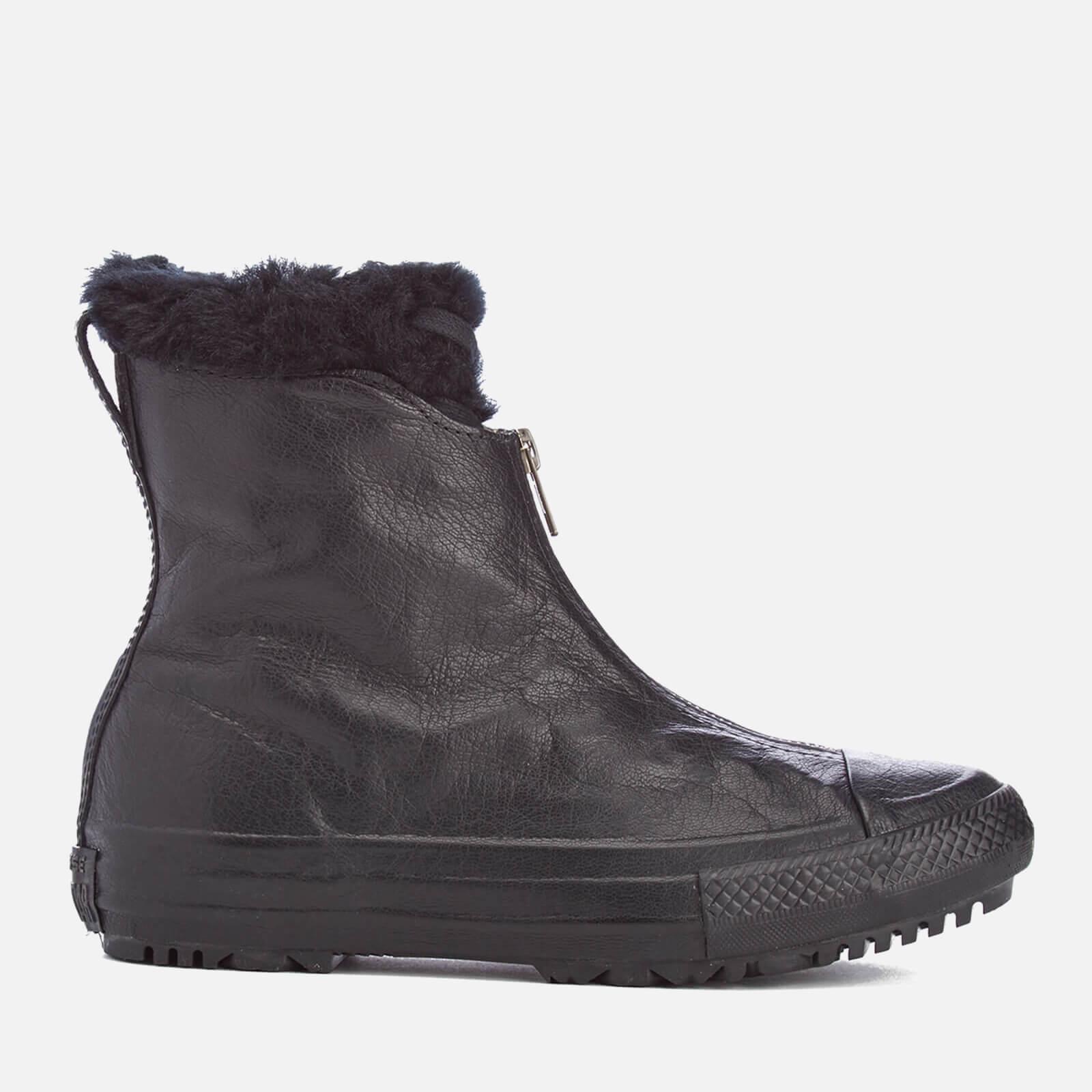 cafbf7e83eca ... Converse Women s Chuck Taylor All Star Hi Rise Shroud Boots - Black  Monochrome