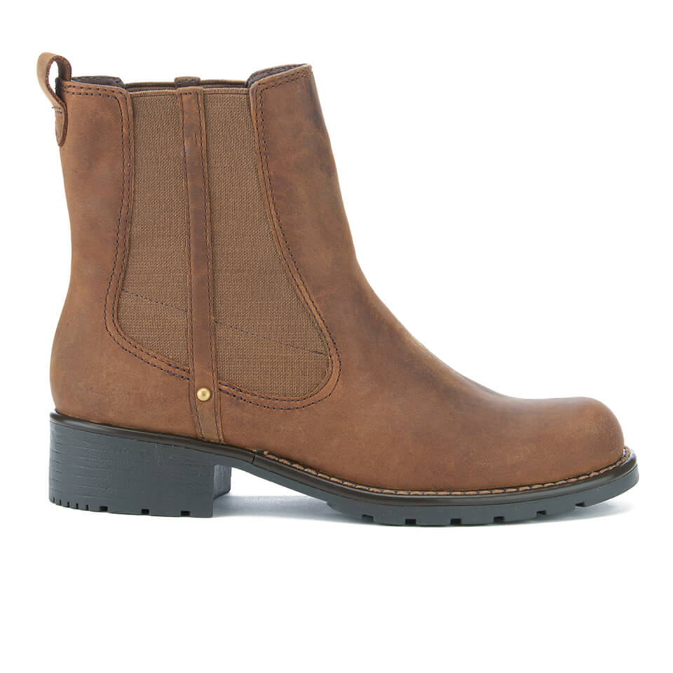 Clarks Women's Orinoco Club Leather Chelsea Boots Brown
