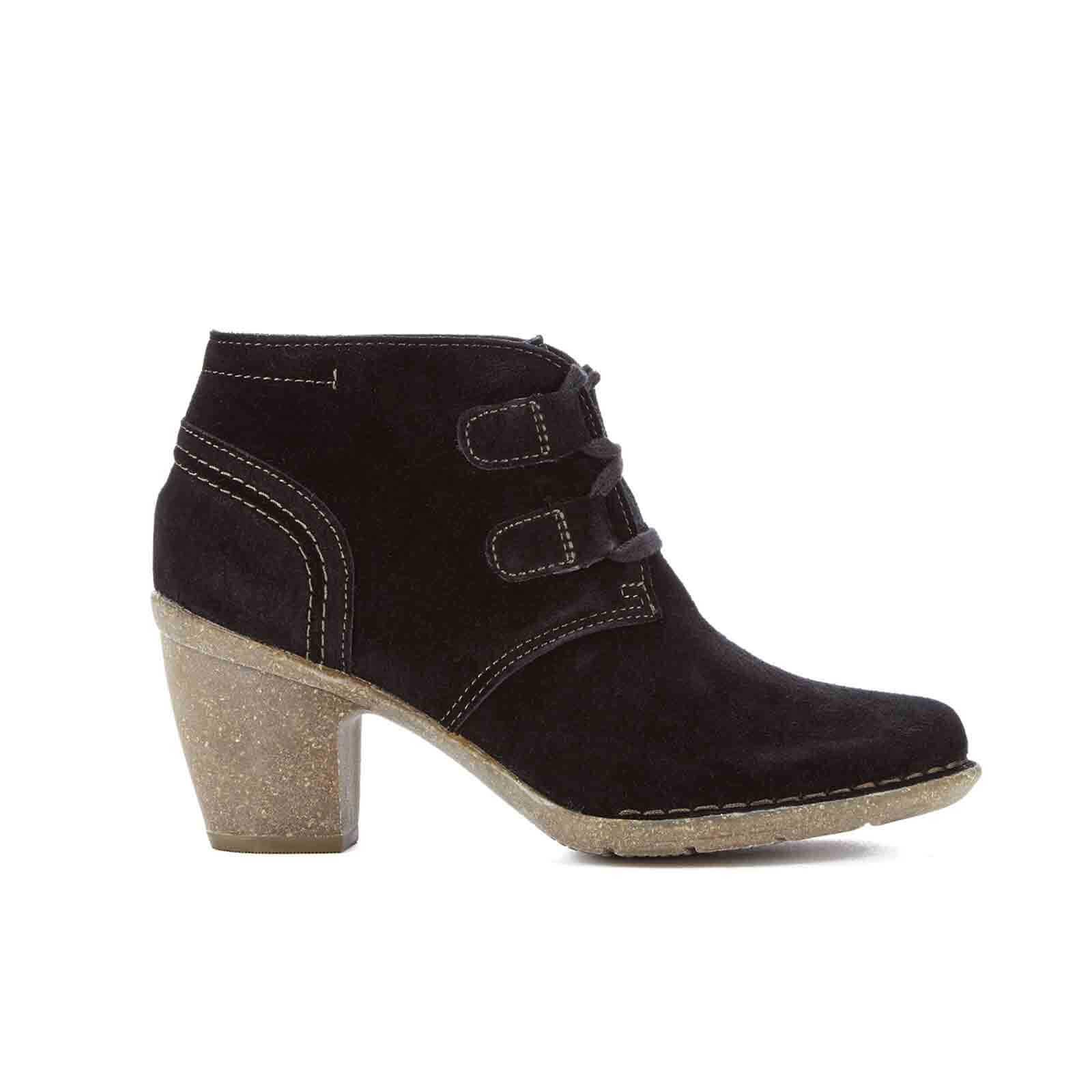 d6222e1d3 Clarks Women's Carleta Lyon Suede Heeled Ankle Boots - Black Womens Footwear    TheHut.com