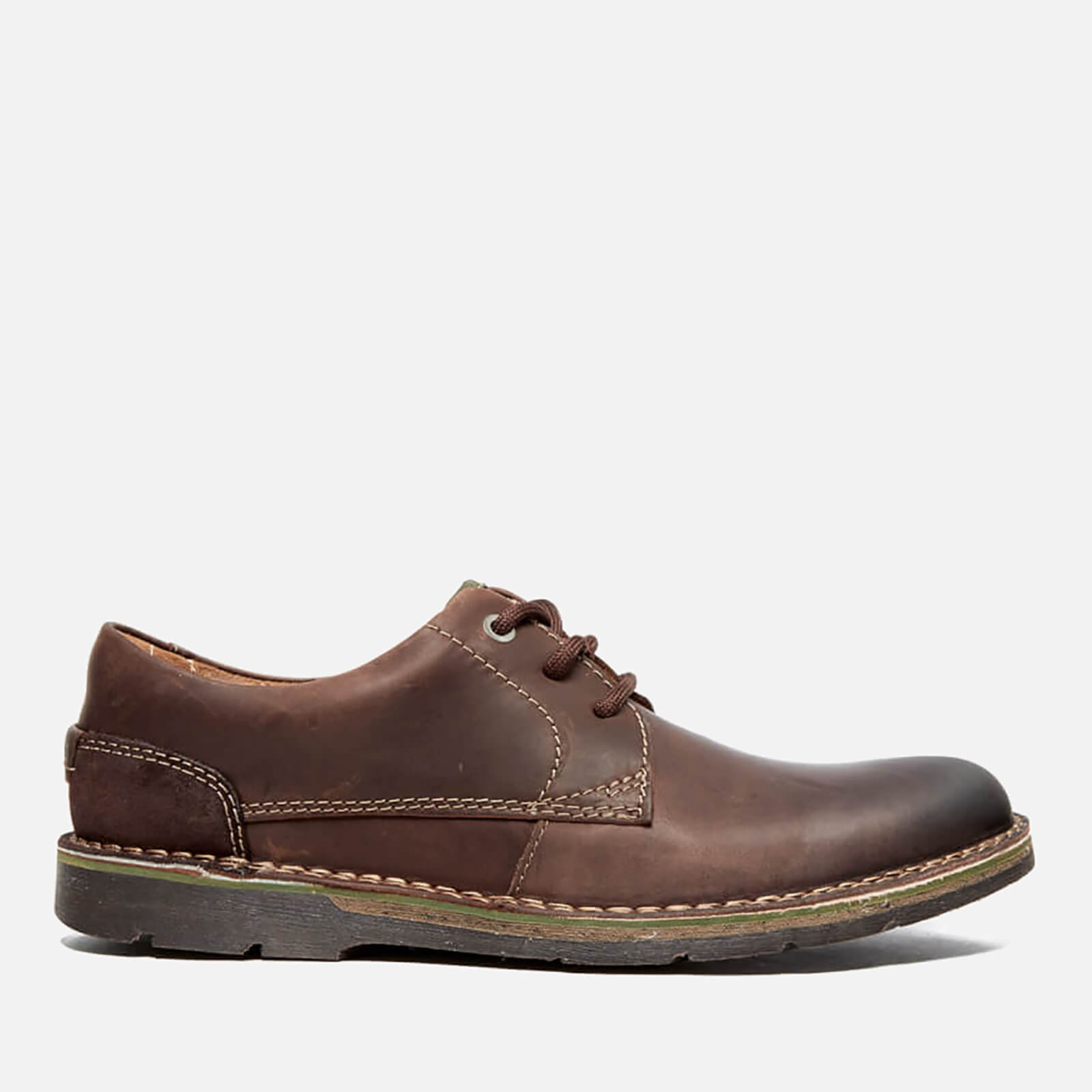 Clarks Men's Edgewick Plain Leather Shoes Dark Brown