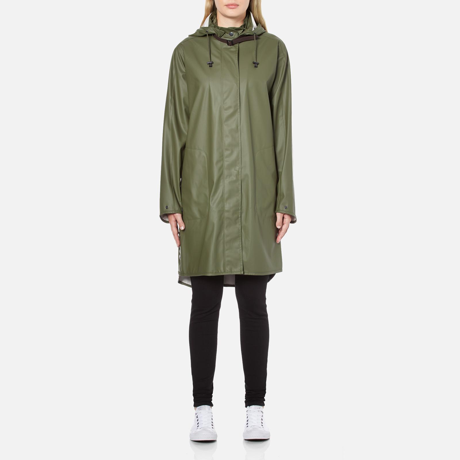 eef413c656f1 Ilse Jacobsen Women s Light True Rain A Line Coat - Army Womens Clothing