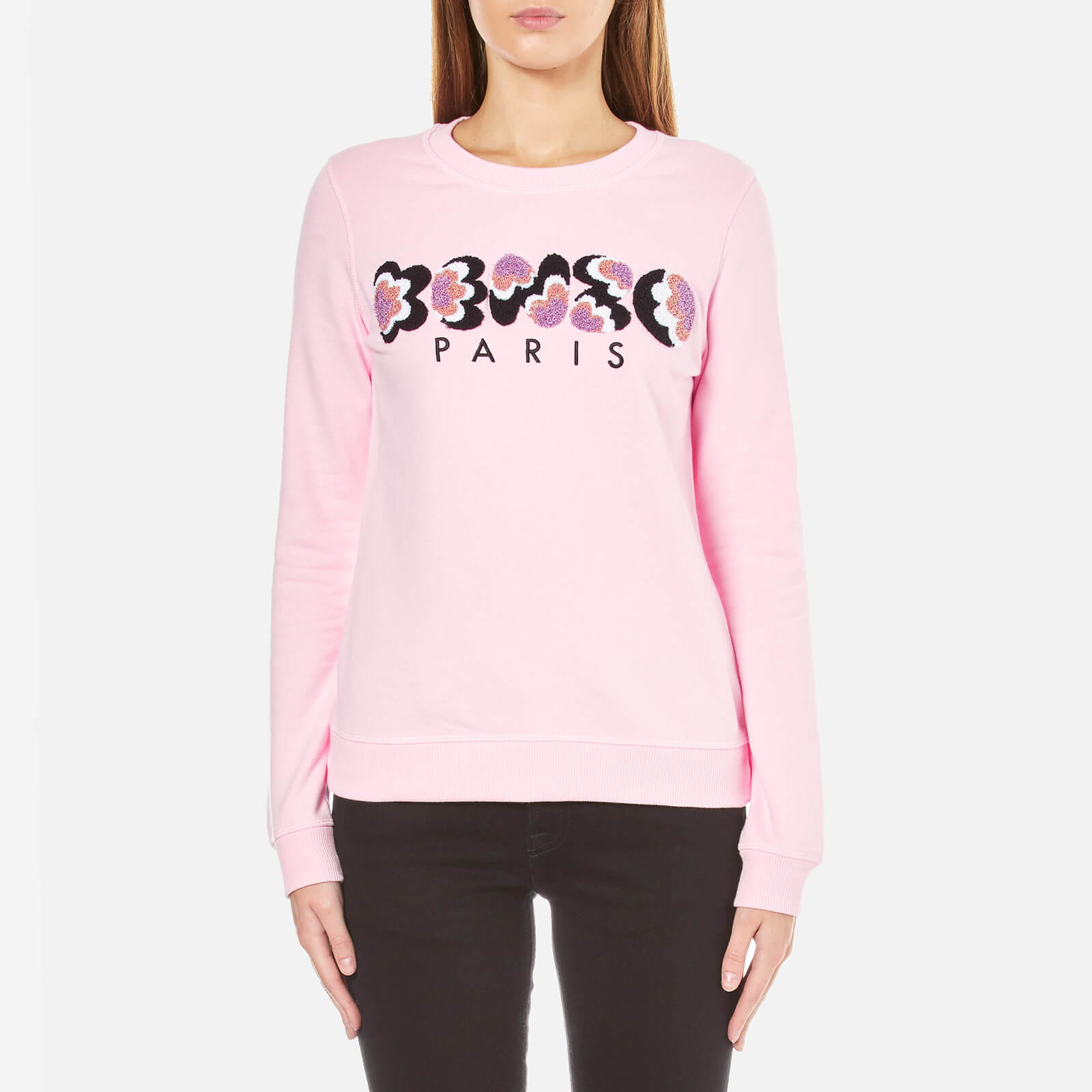 46a39715 KENZO Women's Embroidered Logo Sweatshirt - Pale Pink - Free UK Delivery  over £50