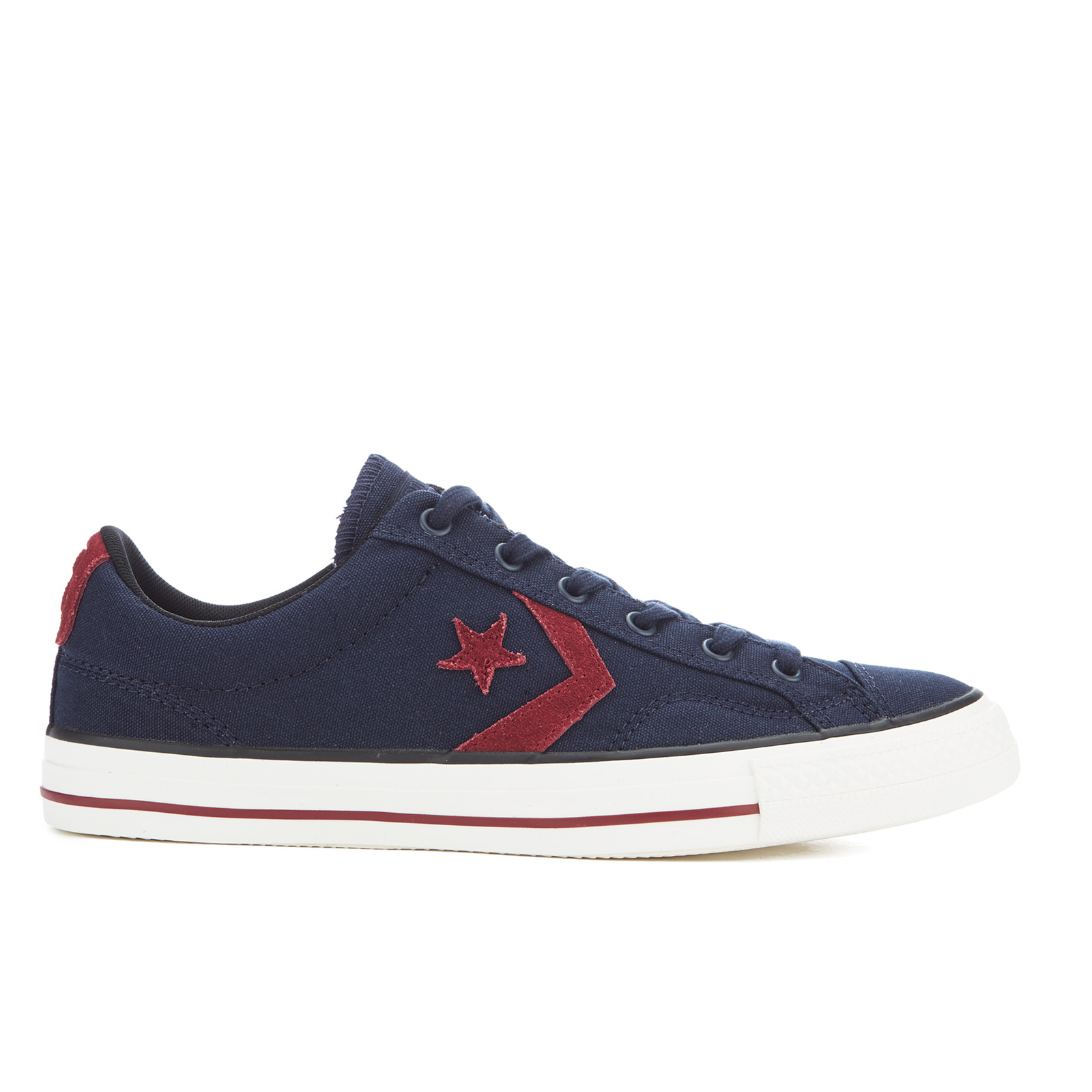 Converse CONS Men's Star Player Canvas Ox Trainers ObsidianRed BlockBlack