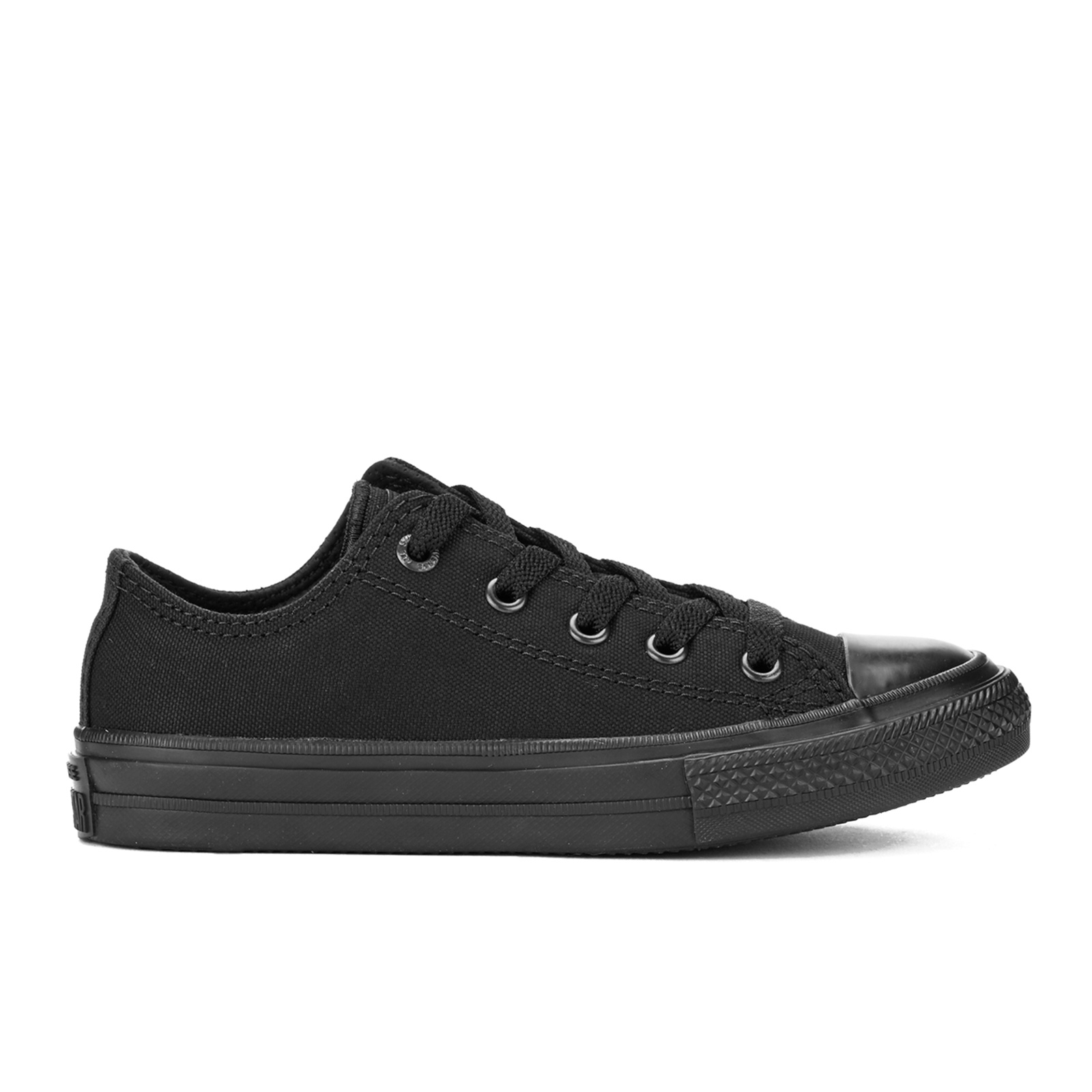 Converse Kids Chuck Taylor All Star II Tencel Canvas Ox Trainers Black Monochrome