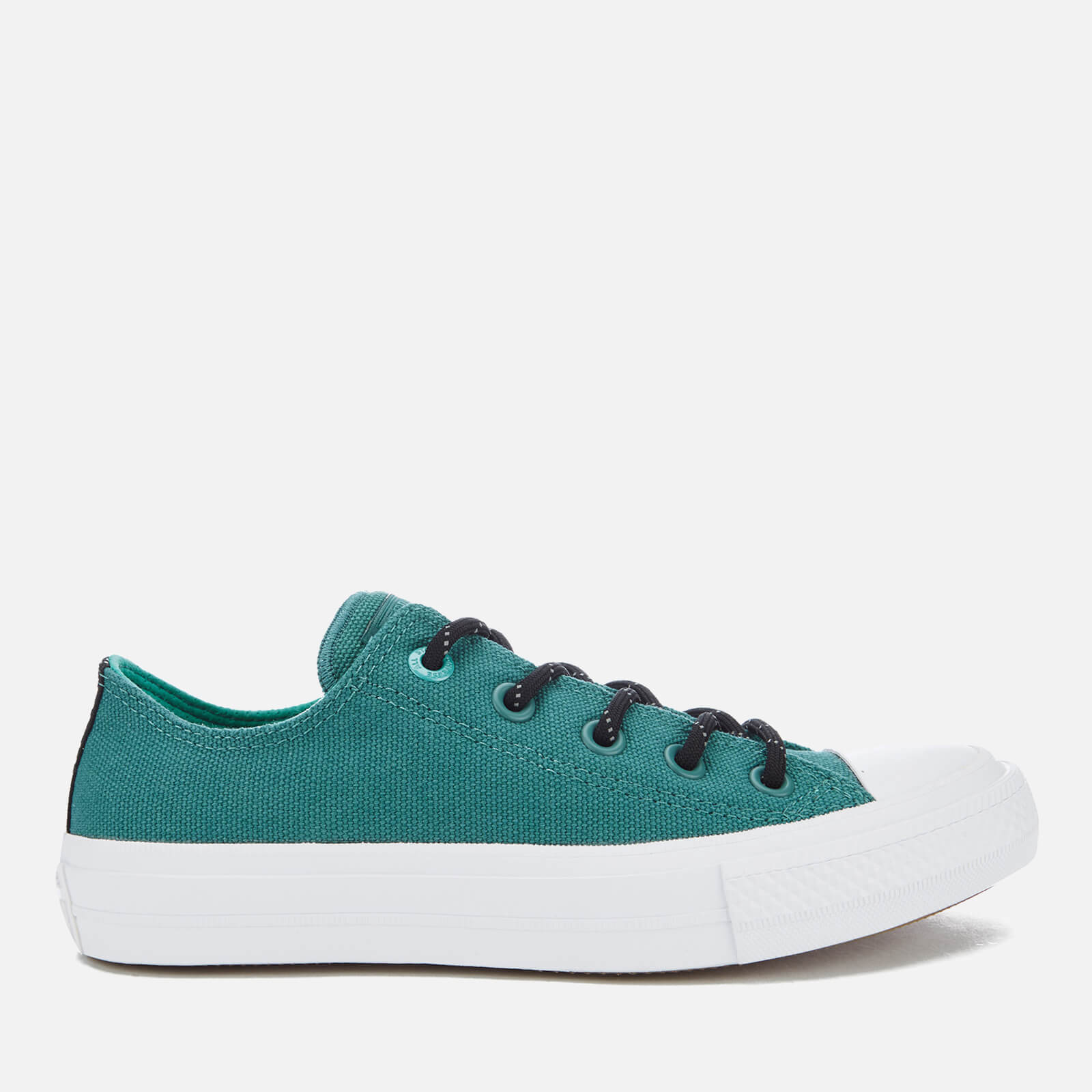 8379b2b10f6b78 Converse Women s Chuck Taylor All Star II Shield Canvas Ox Trainers - Cool  Jade White Aegean Aqua - Free UK Delivery over £50