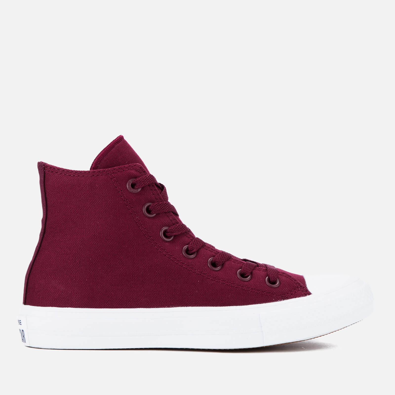 97038a224b8222 ... Converse Chuck Taylor All Star II Hi-Top Trainers - Deep Bordeaux White