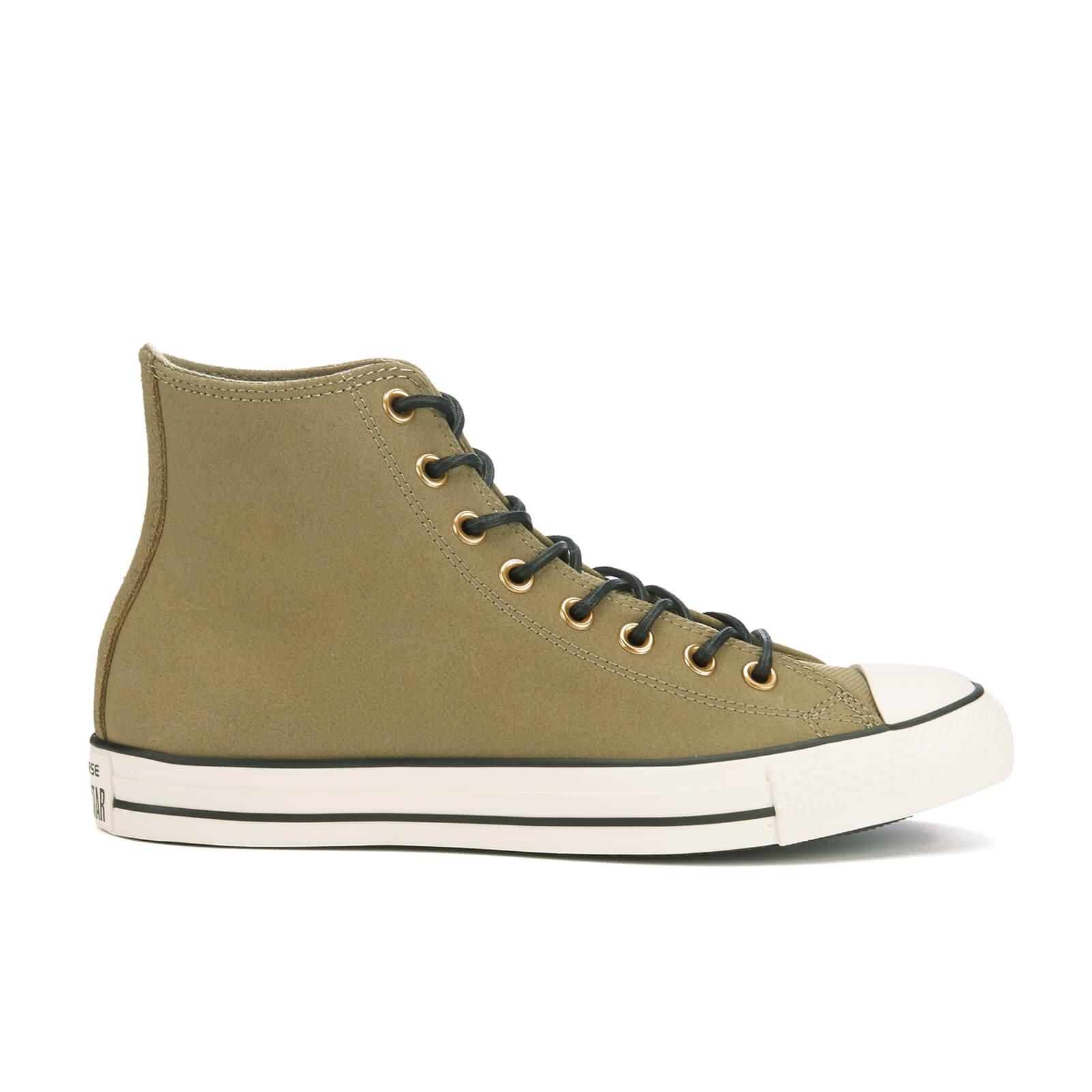 ff4a9668ac7e Converse Men s Chuck Taylor All Star Leather Corduroy Hi-Top Trainers -  Jute Egret Black Mens Footwear