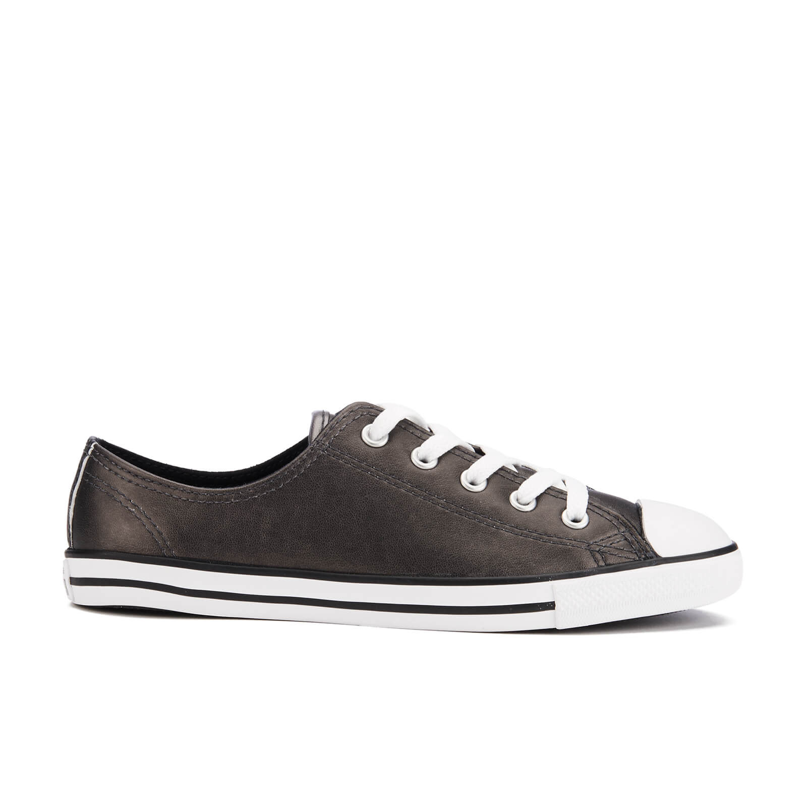 d3e8962b15ac Converse Women s Chuck Taylor All Star Dainty Ox Trainers - Black Black  White - Free UK Delivery over £50