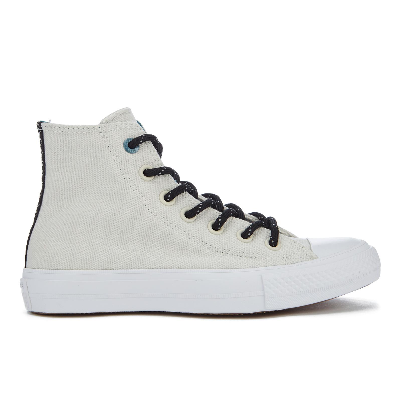 8830ef2a7950 Converse Women s Chuck Taylor All Star II Shield Canvas Hi-Top Trainers -  Buff Cool Jade White Womens Footwear