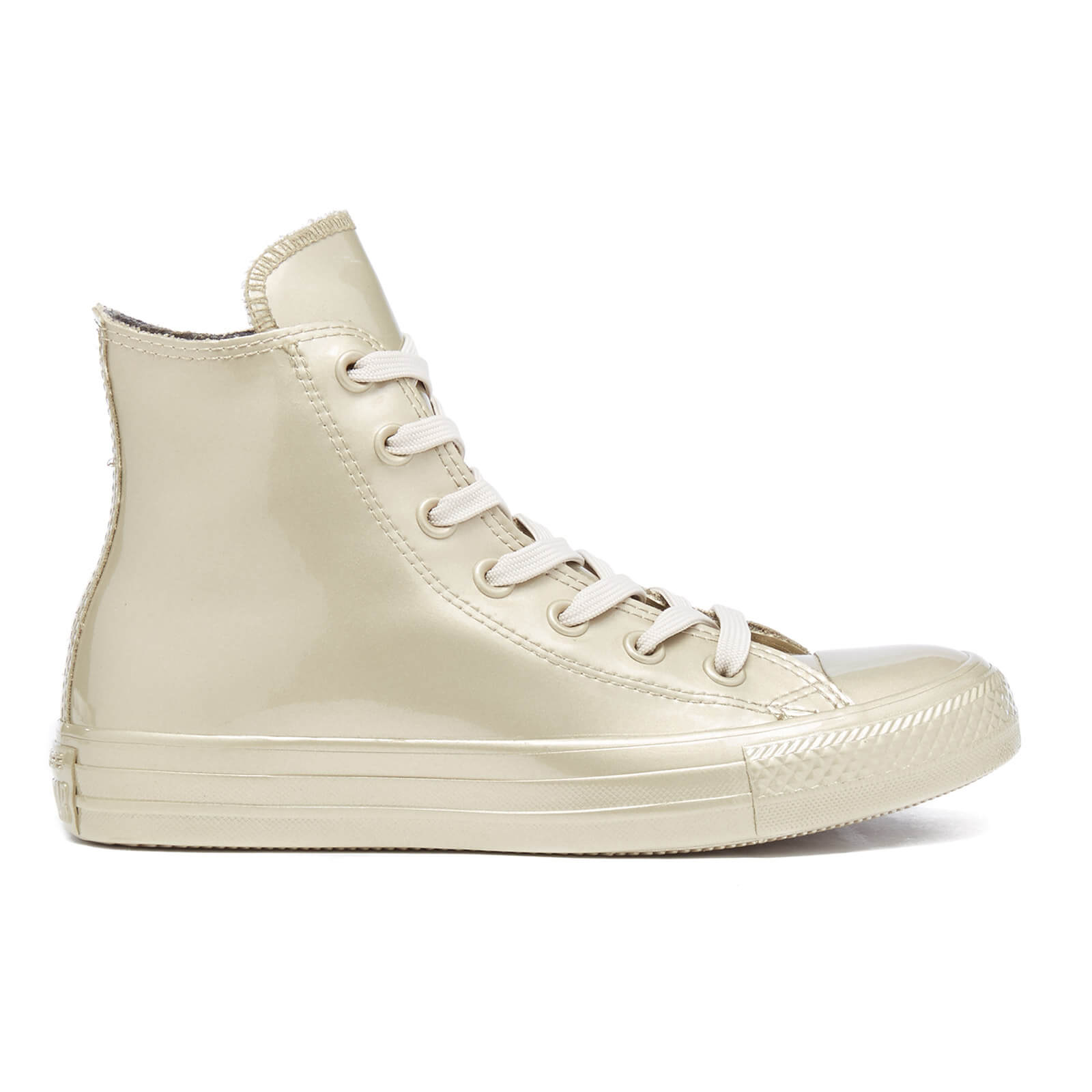 1c8f794bb76a Converse Women s Chuck Taylor All Star Metallic Rubber Hi-Top Trainers - Light  Gold Light Gold Light Gold - Free UK Delivery over £50