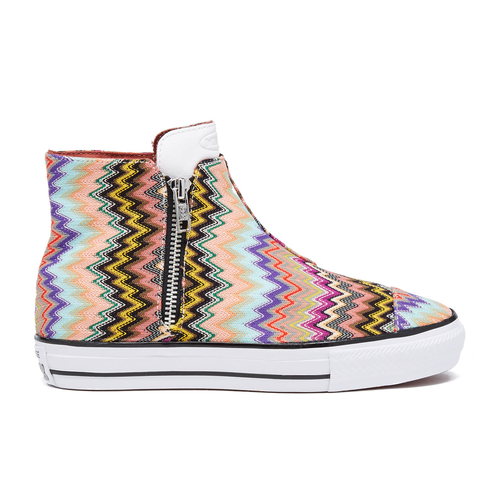 4693716bd5c981 Converse X Missoni Women s Chuck Taylor All Star High Line Trainers -  Multi White Black - Free UK Delivery over £50