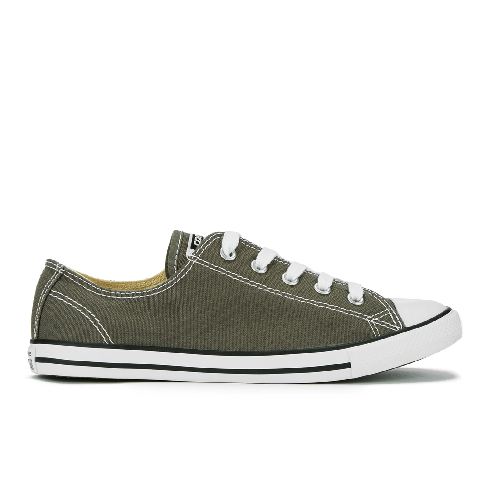 ee398cd41ae7 Converse Women s Chuck Taylor All Star Dainty Ox Trainers - Charcoal Womens  Footwear