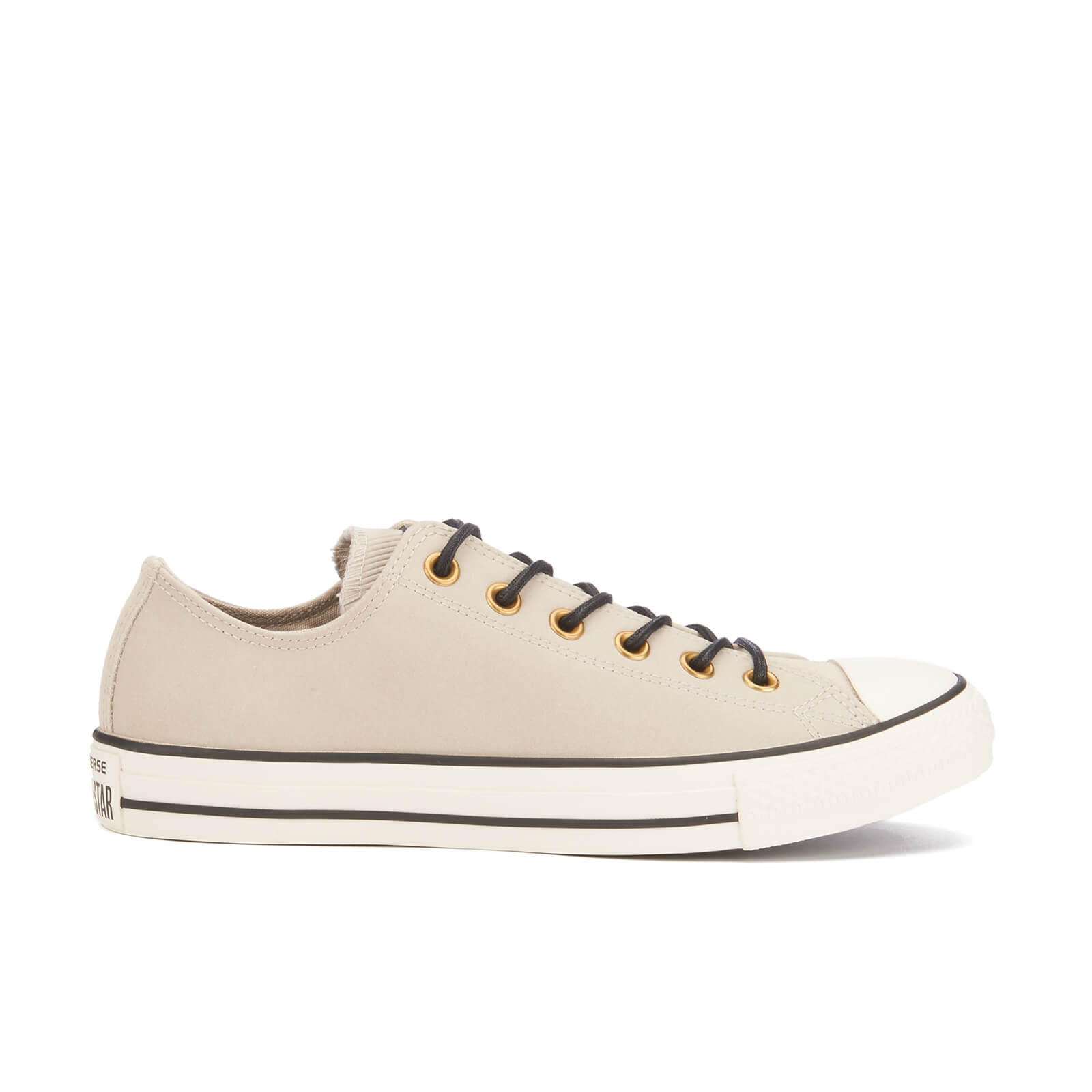 Converse Men's Chuck Taylor All Star LeatherCorduroy Ox Trainers Frayed BurlapEgretBlack
