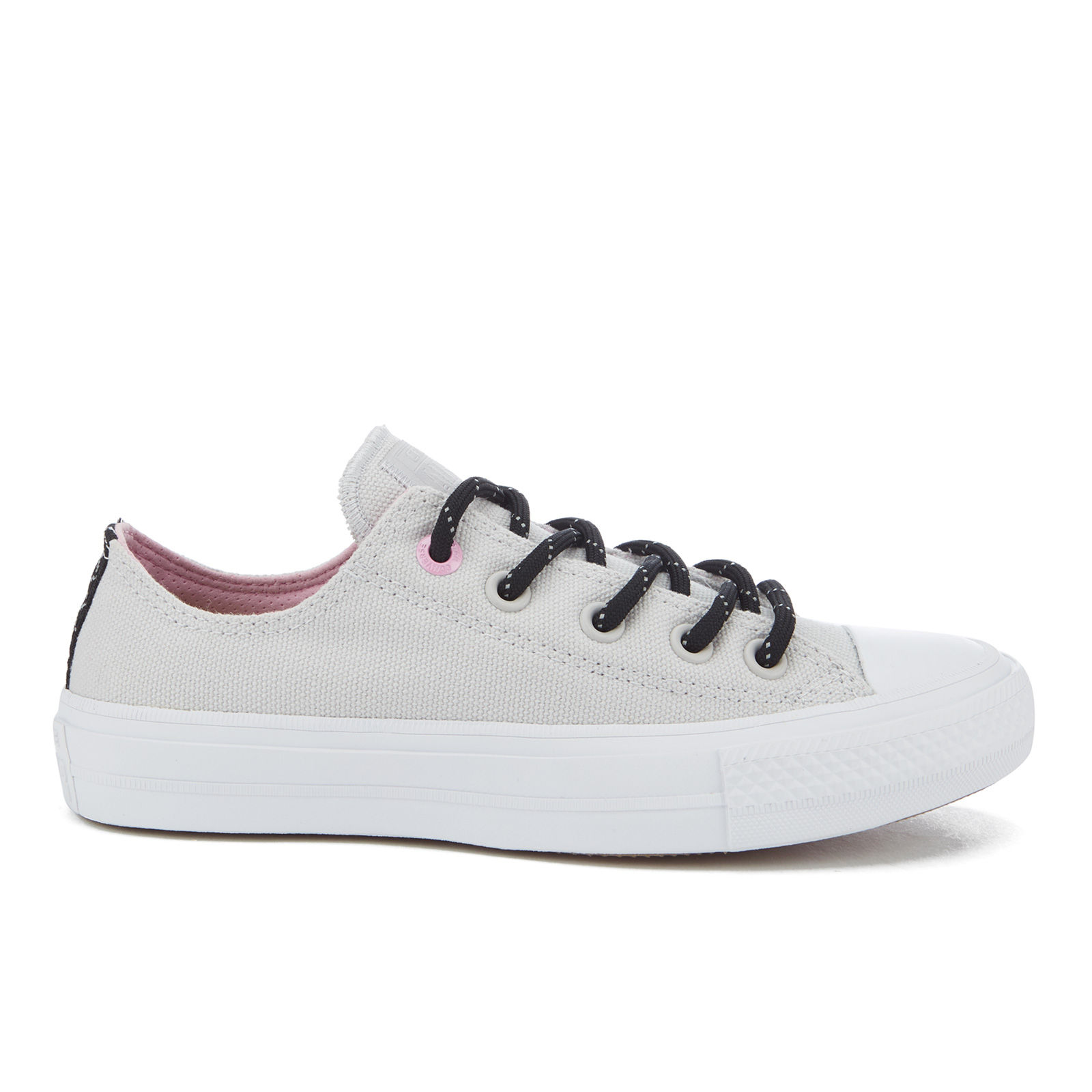 d684562ab7eec7 Converse Women s Chuck Taylor All Star II Shield Canvas Ox Trainers -  Mouse White Icy Pink - Free UK Delivery over £50