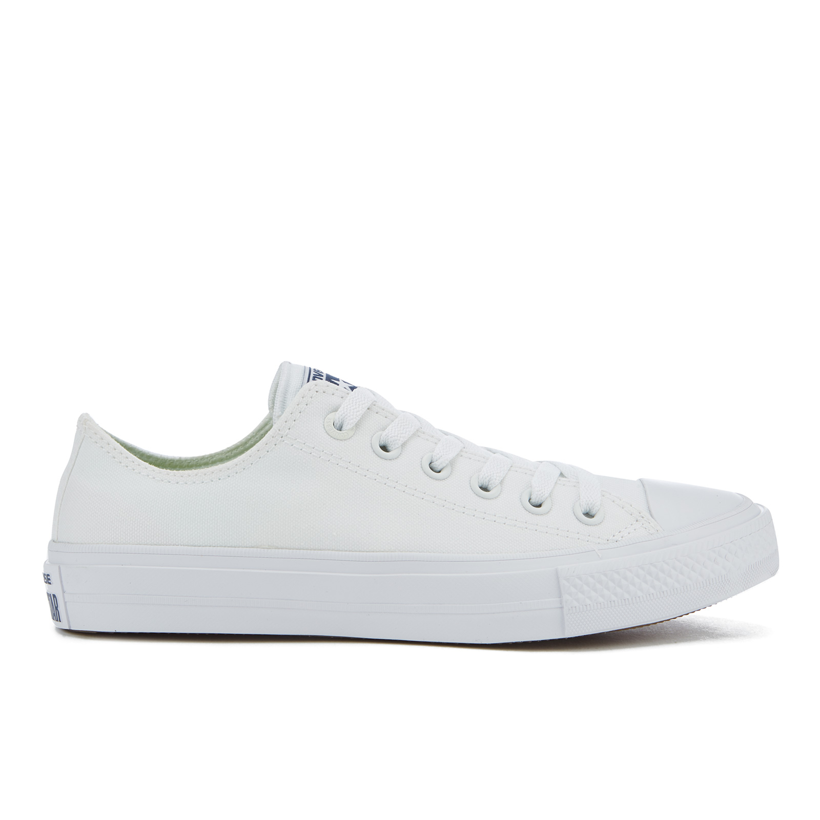 Converse Chuck Taylor All Star II Ox Trainers WhiteWhiteNavy