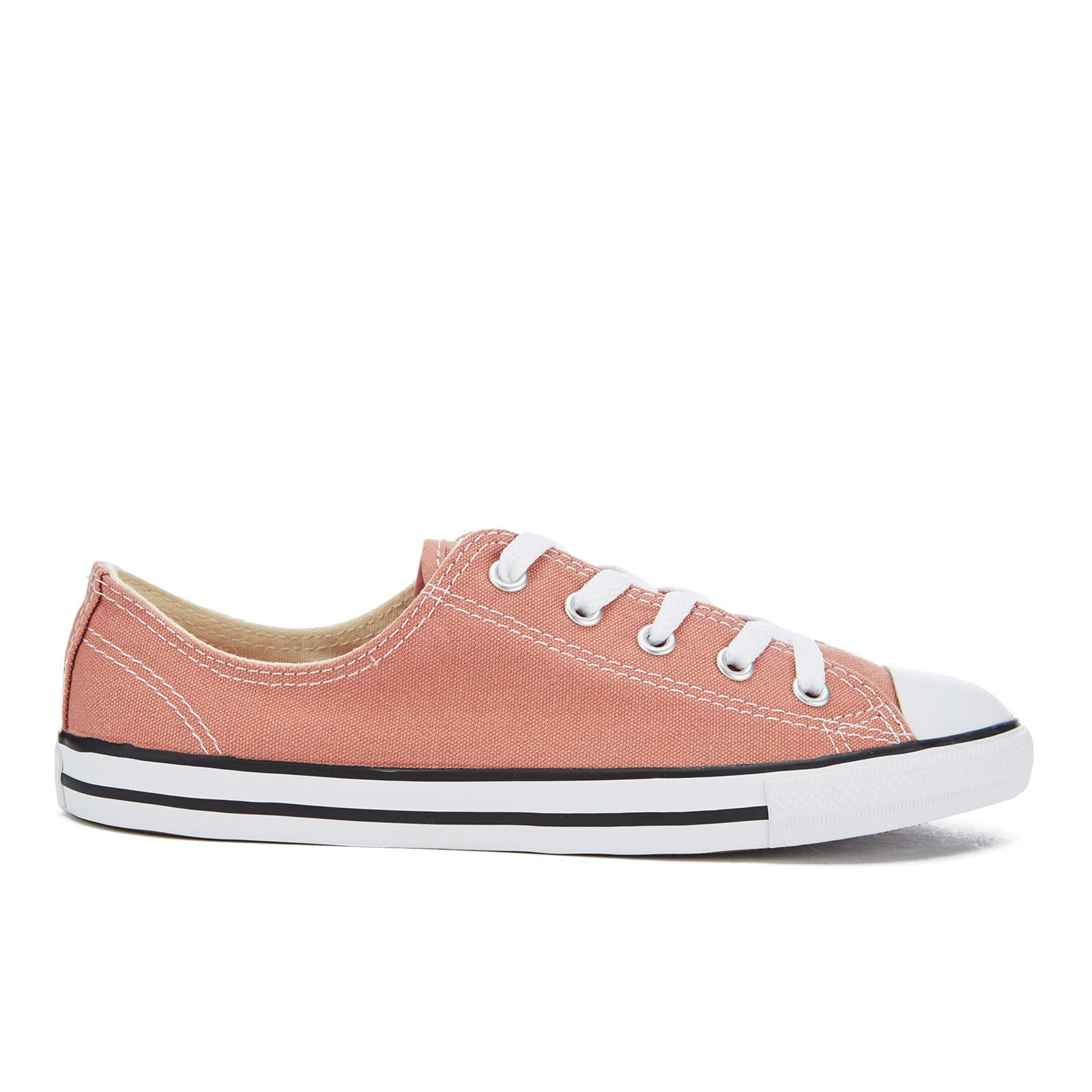 f6fedf442a32 ... Converse Women s Chuck Taylor All Star Dainty Ox Trainers - Pink Blush  Black White