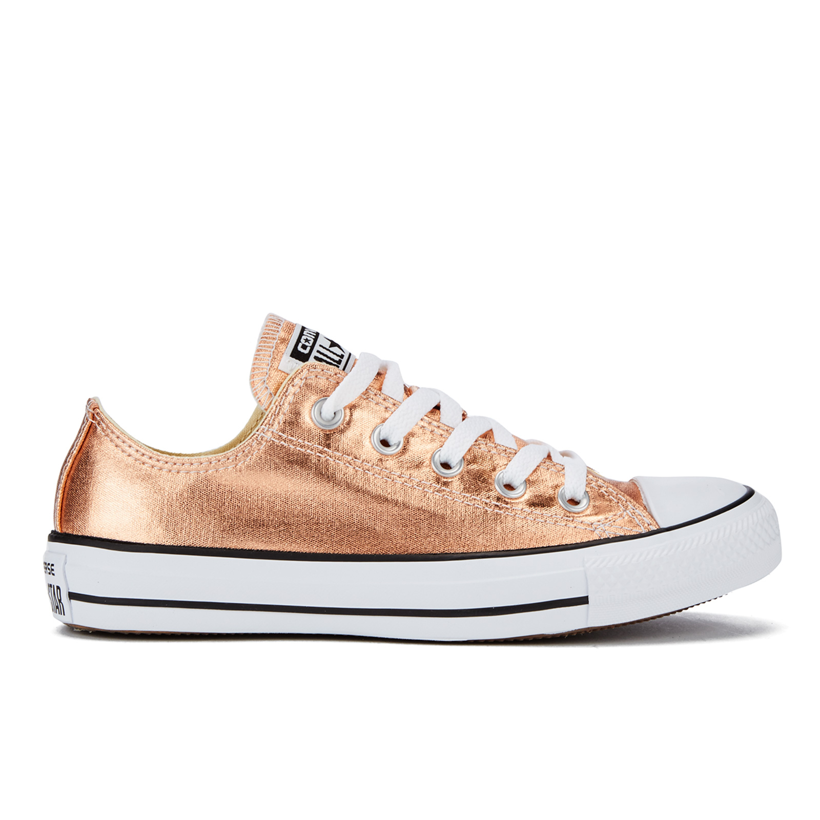 726dcec9c51f79 ... Converse Women s Chuck Taylor All Star Ox Trainers - Metallic Sunset  Glow White Black