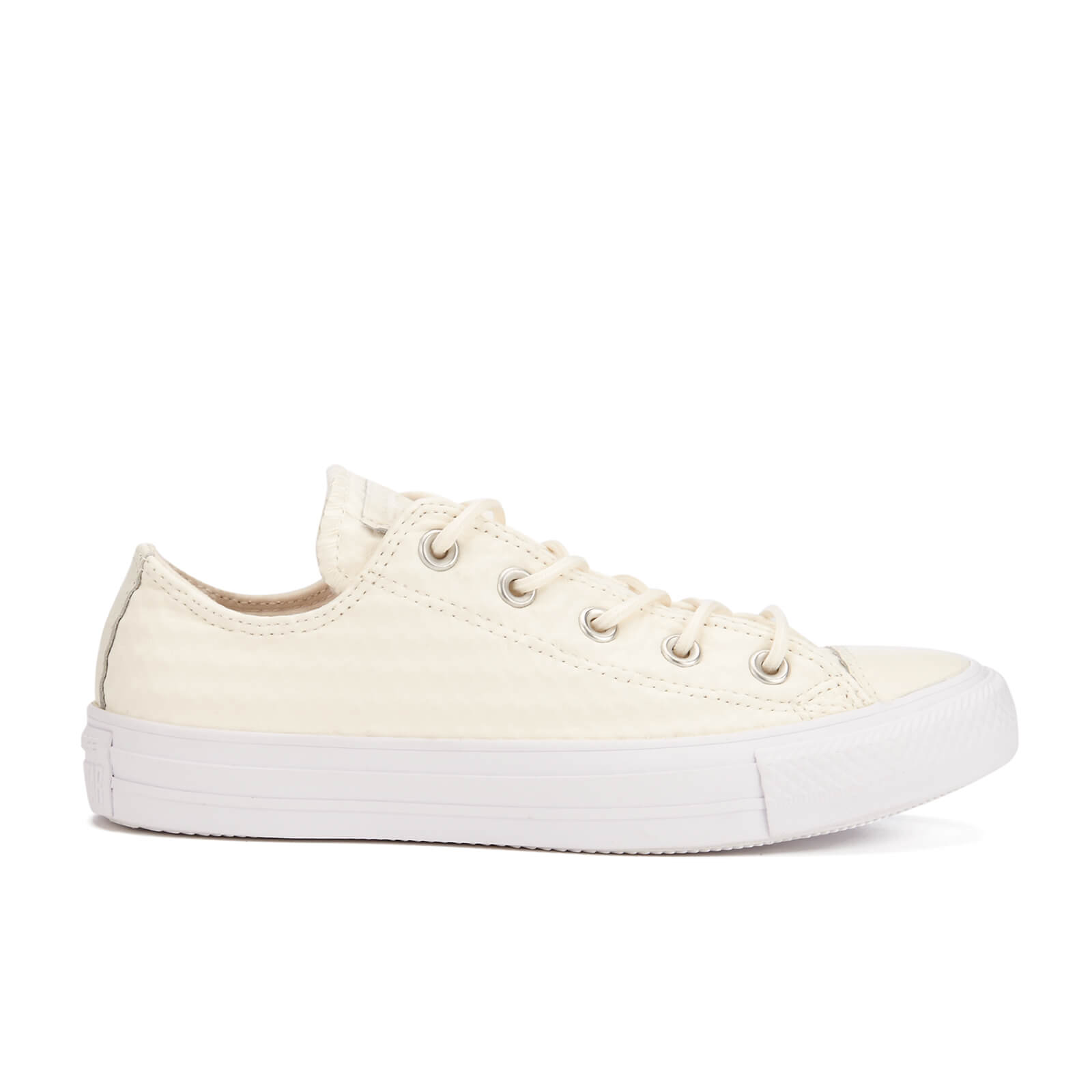 4d92b9e0d5ee Converse Women s Chuck Taylor All Star Craft Leather Ox Trainers - White  Monochrome - Free UK Delivery over £50