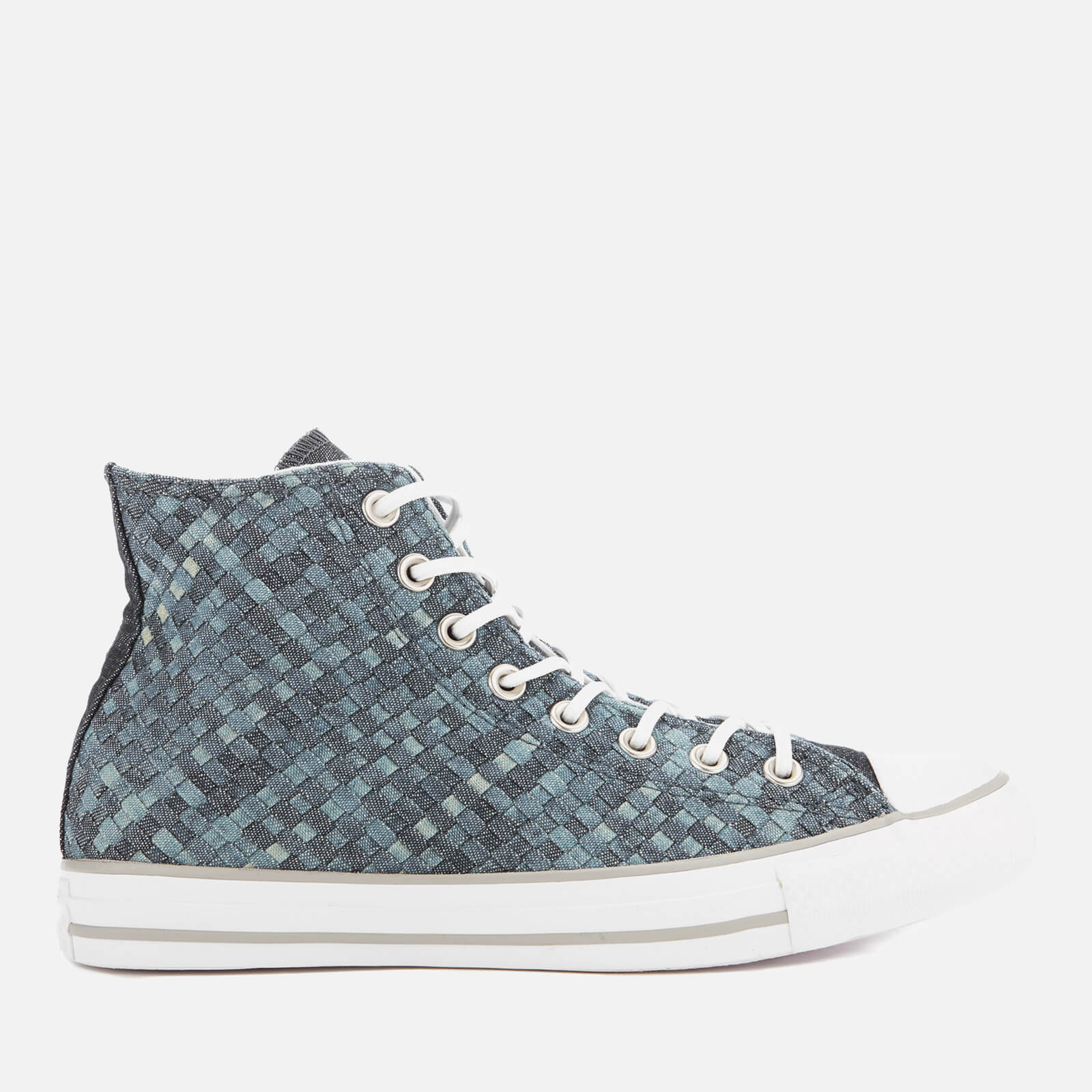 fa8a029596b Converse Men s Chuck Taylor All Star Denim Woven Hi-Top Trainers - Polar  Blue White Dolphin Mens Footwear