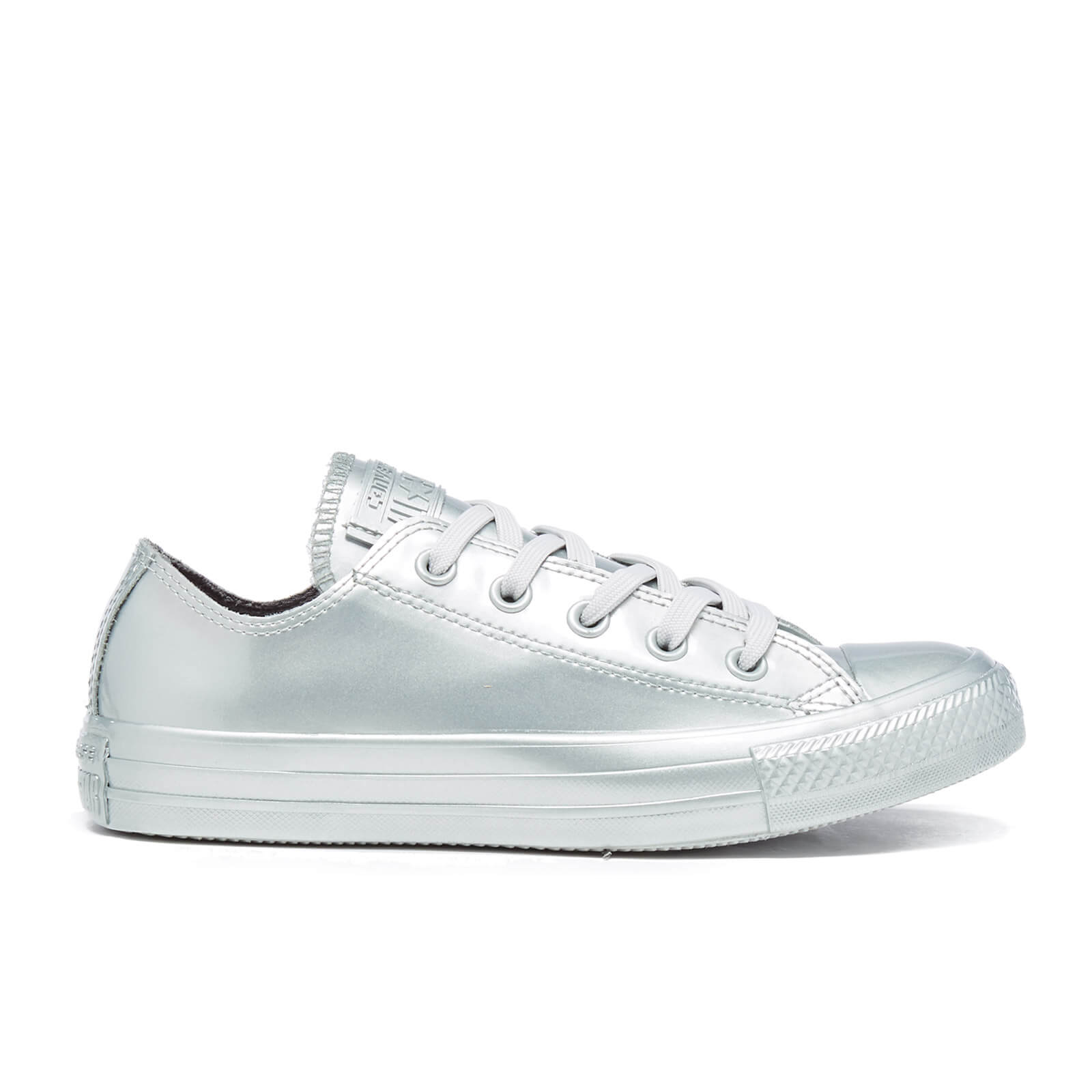 7368281ef96c Converse Women s Chuck Taylor All Star Metallic Rubber Ox Trainers - Pure  SIlver Pure Silver Pure Silver - Free UK Delivery over £50